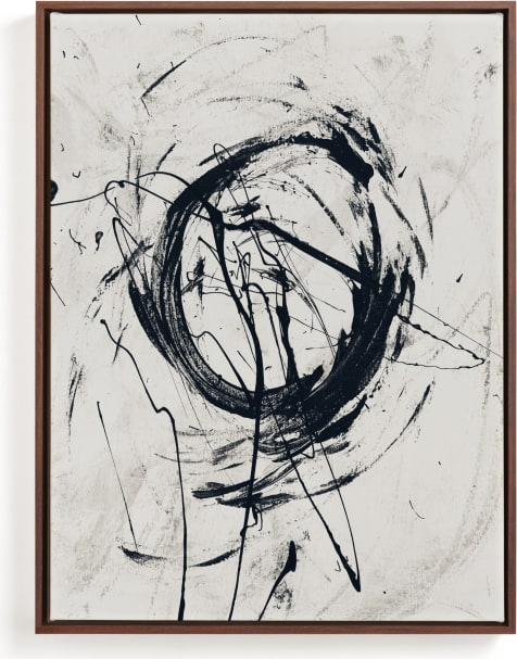 This is a black and white art by Carmen Guedez called Tour de Force I.