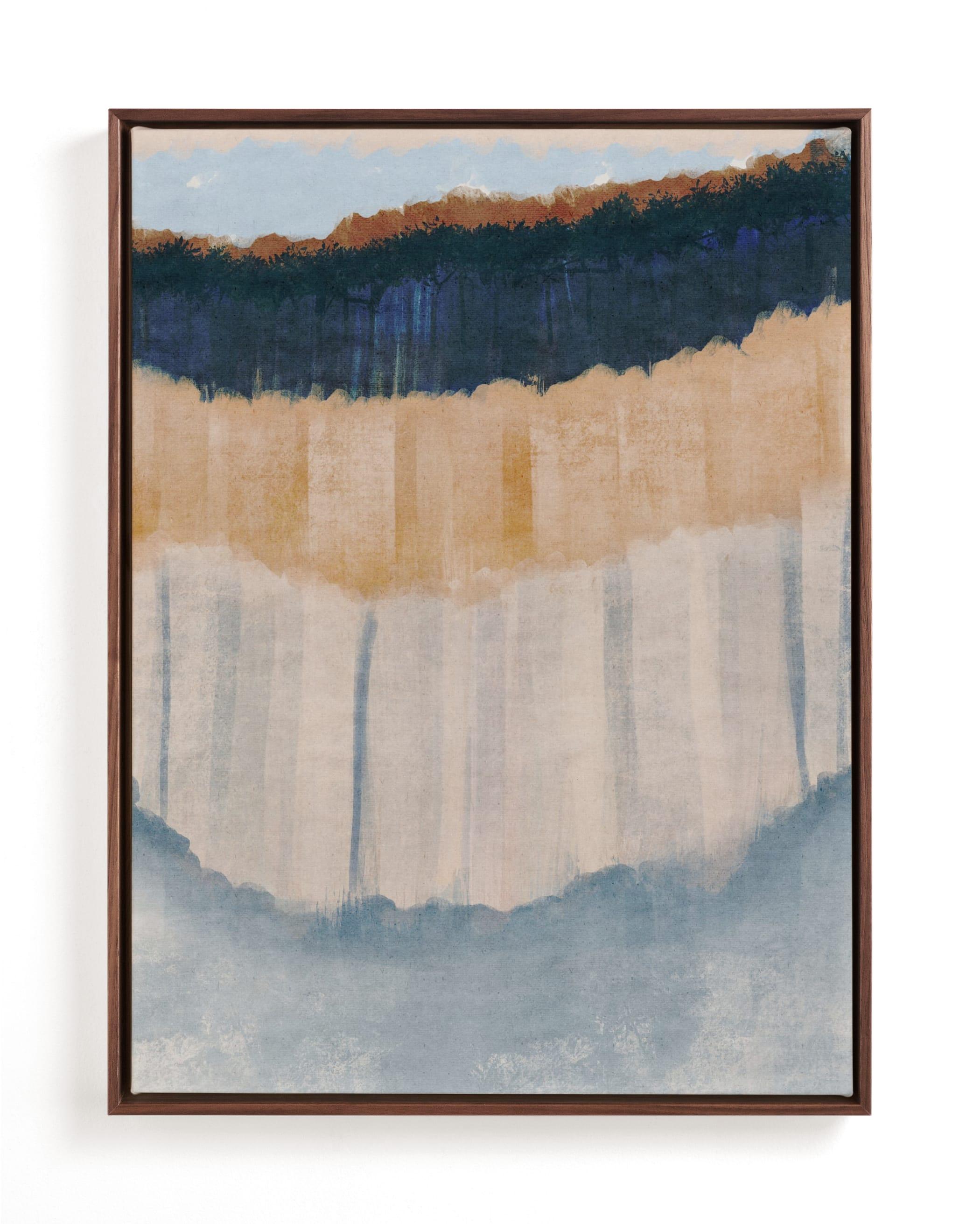 Light Rustic Formation I Wall Art Print