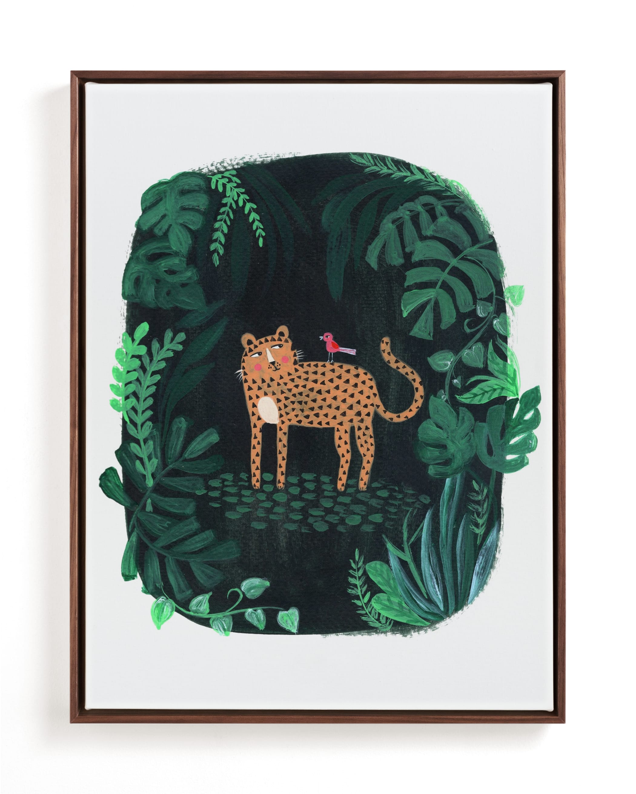 Wild Cat Children's Art Print