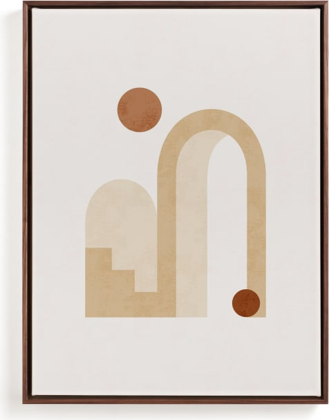 This is a brown art by Iveta Angelova called Rustic Geometry 3.