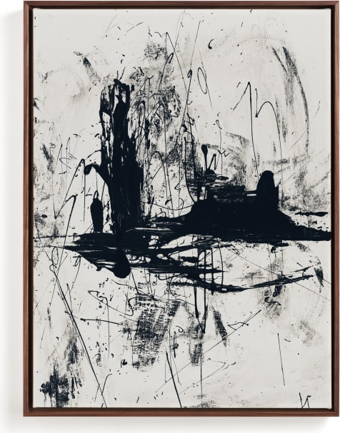 This is a black and white art by Carmen Guedez called Tour de Force II.