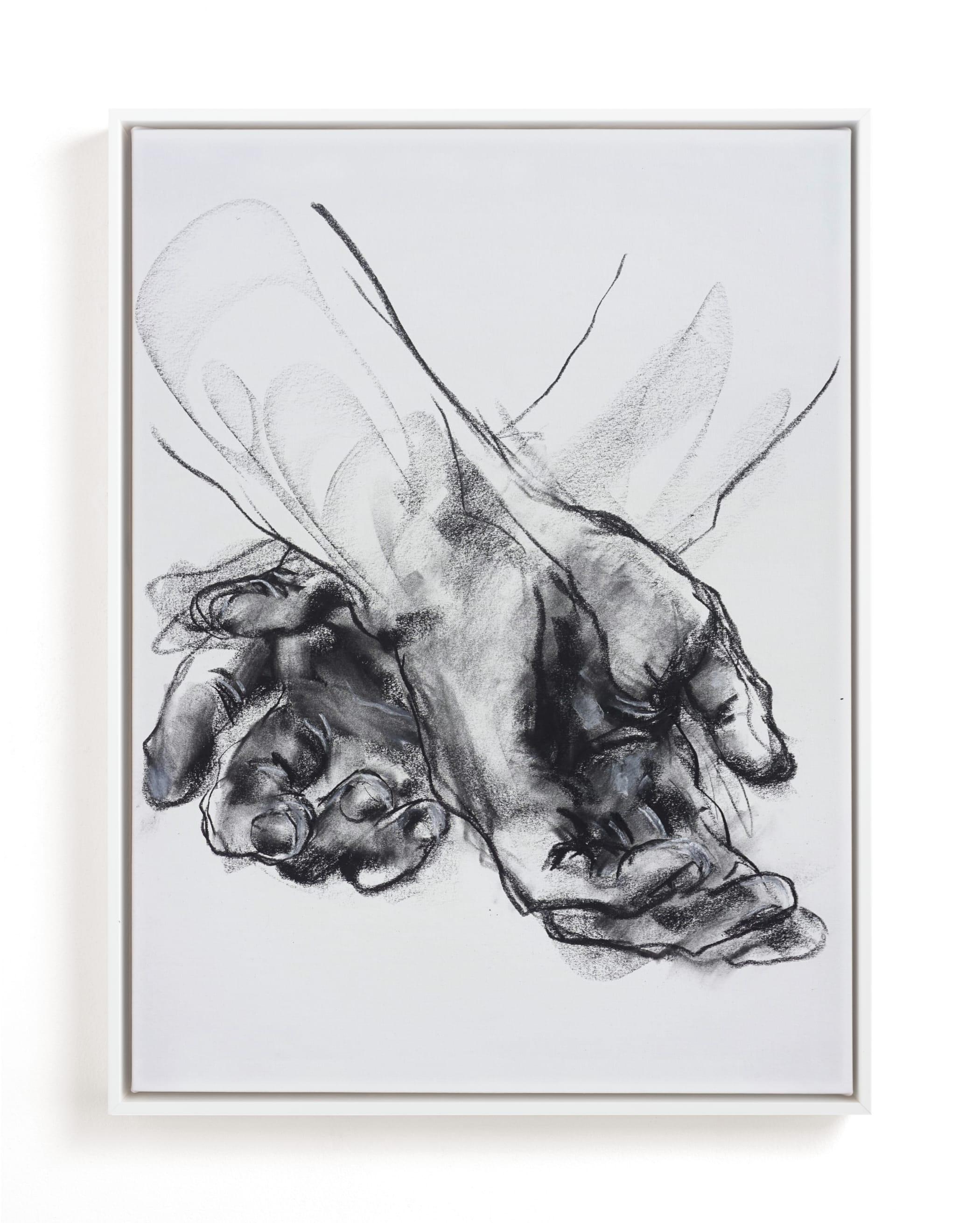 Drawing 561 - Crossed Hands Art Print