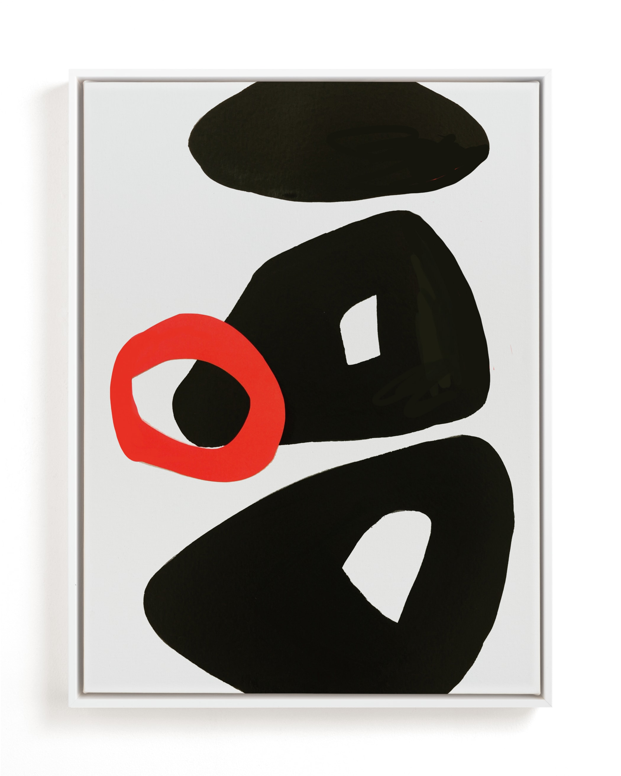 Red Circle Art Print