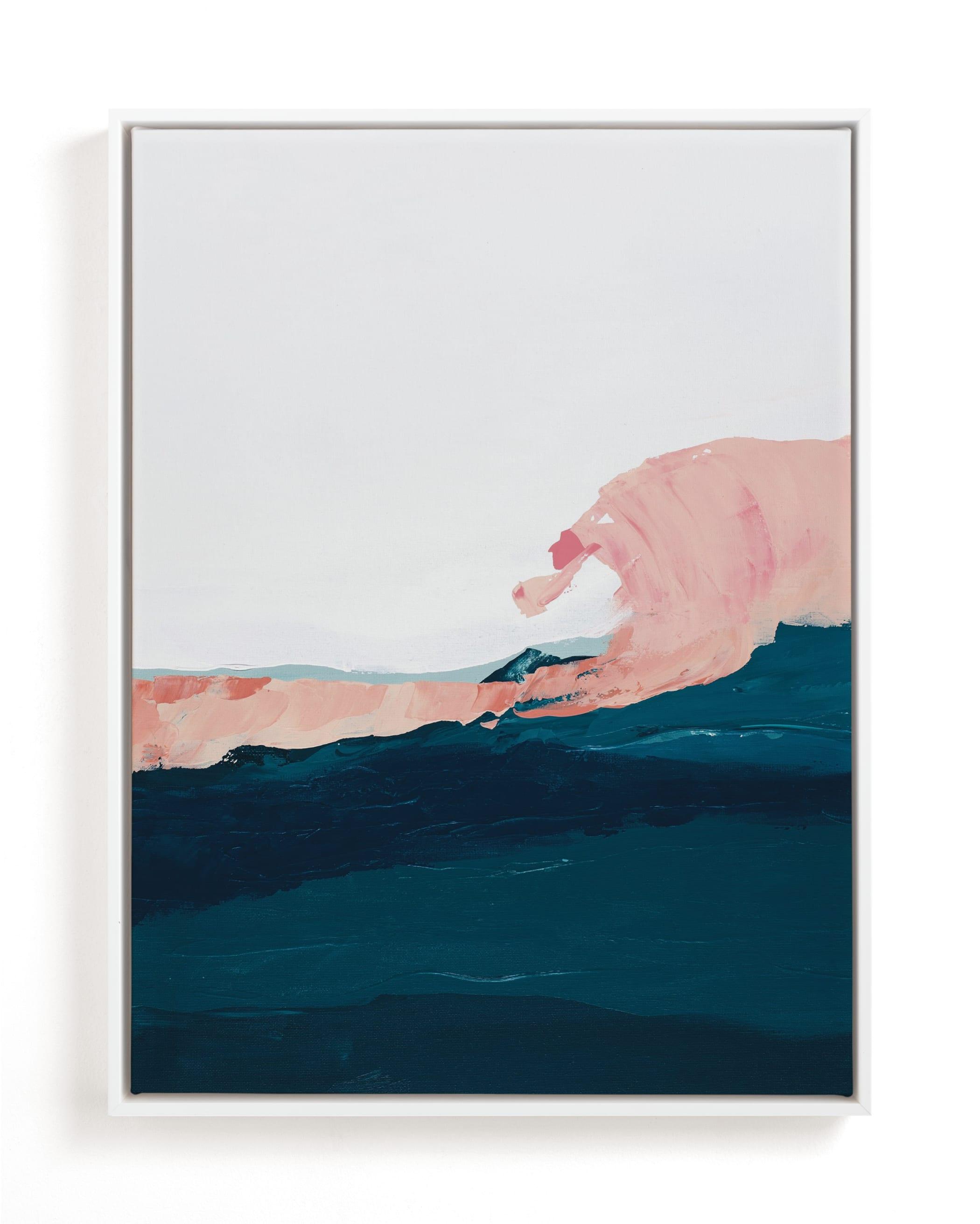 Santa Cruz Seascape Winter Swell Art Print