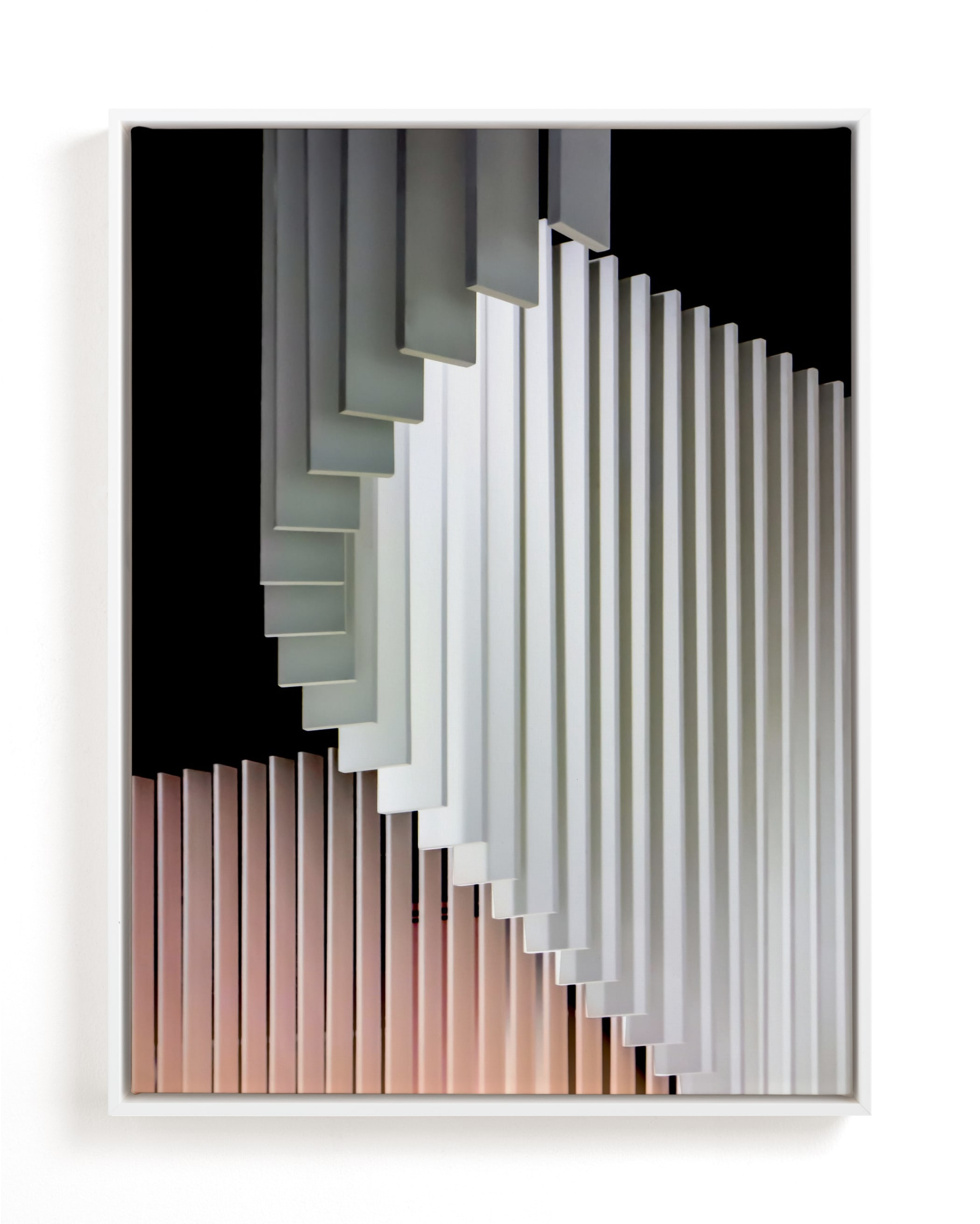 Stacked Curvature Art Print