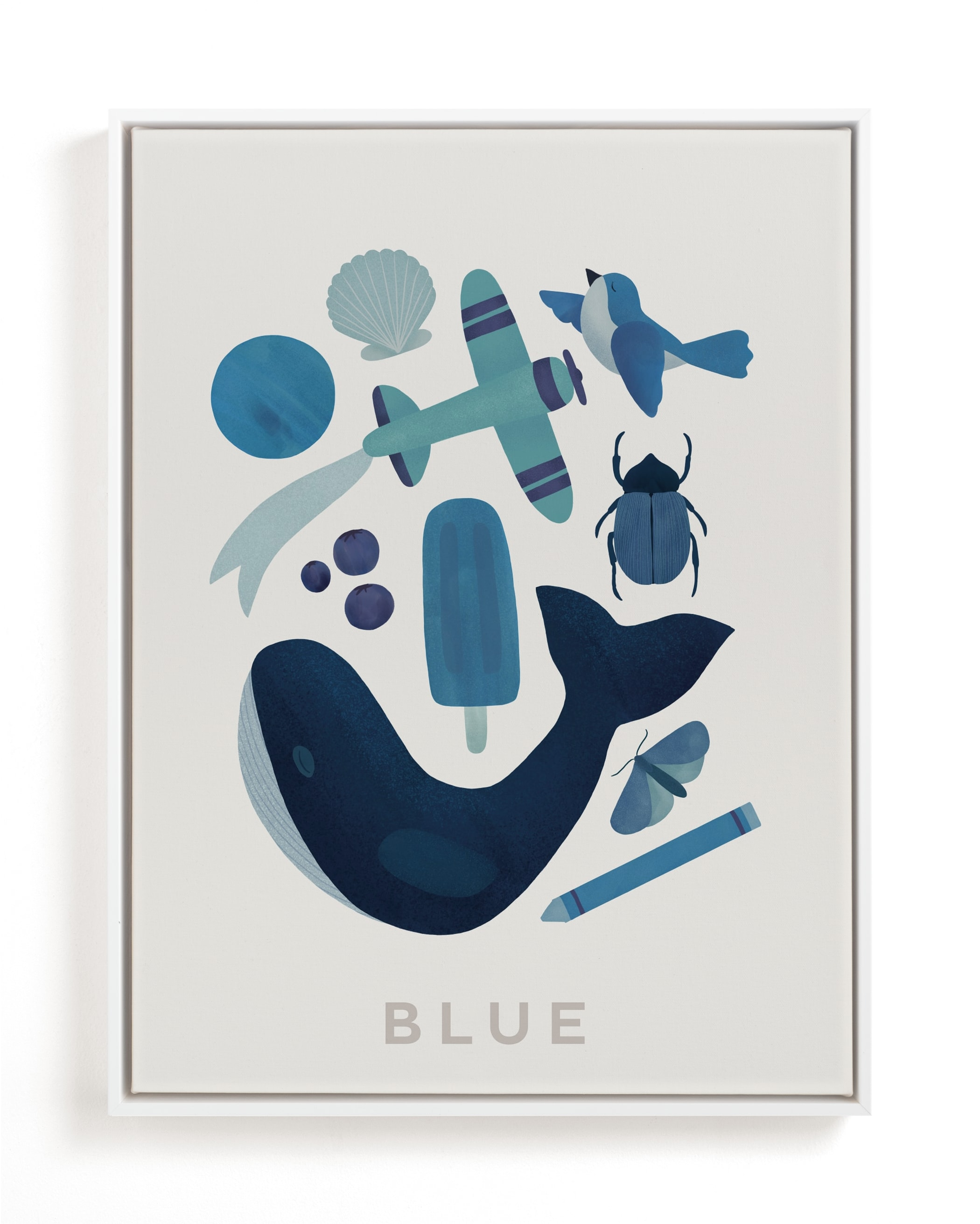 """Ten Blue Things"" - Limited Edition Art Print by Ana Peake in beautiful frame options and a variety of sizes."
