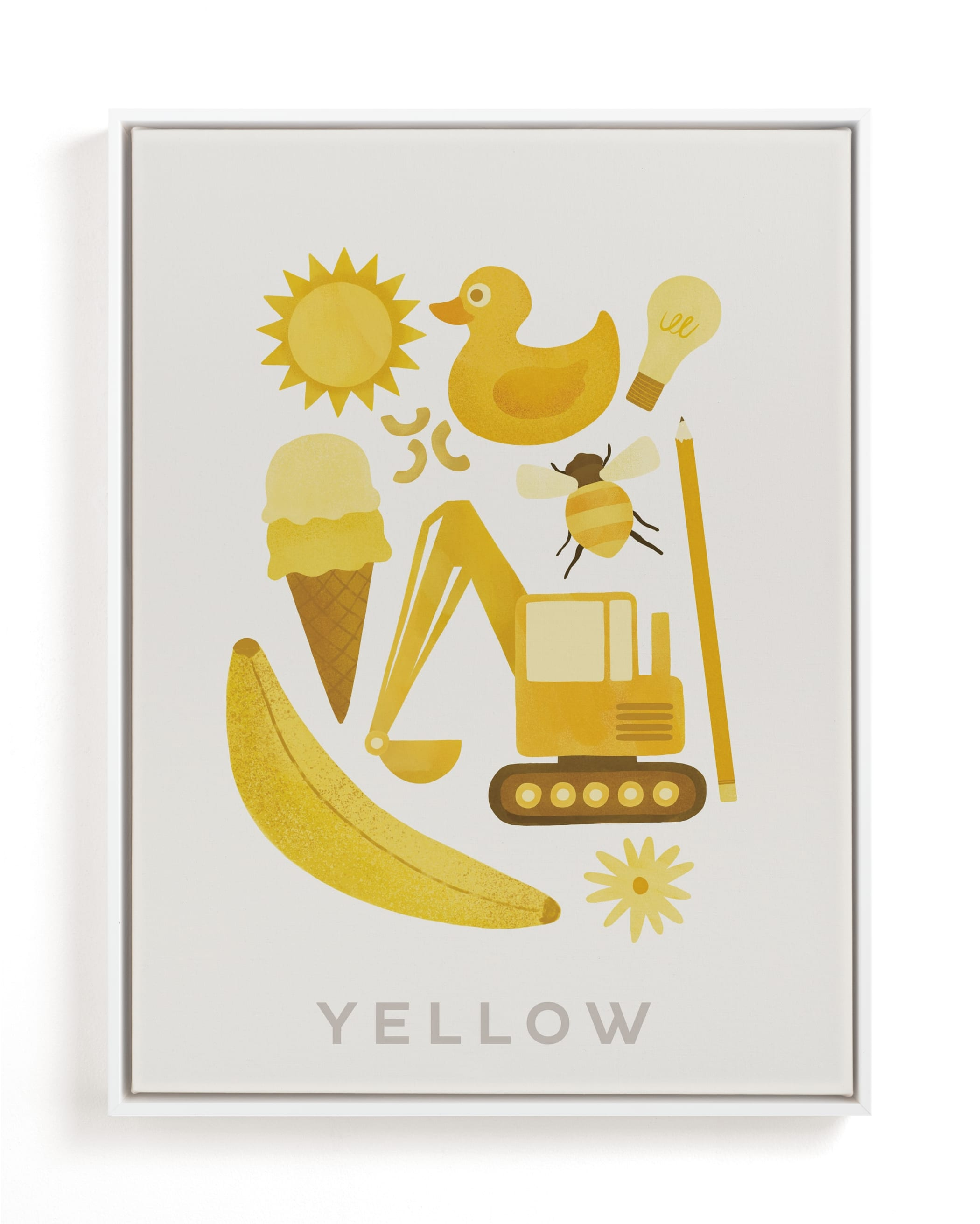 """""""Ten Yellow Things"""" - Limited Edition Art Print by Ana Peake in beautiful frame options and a variety of sizes."""