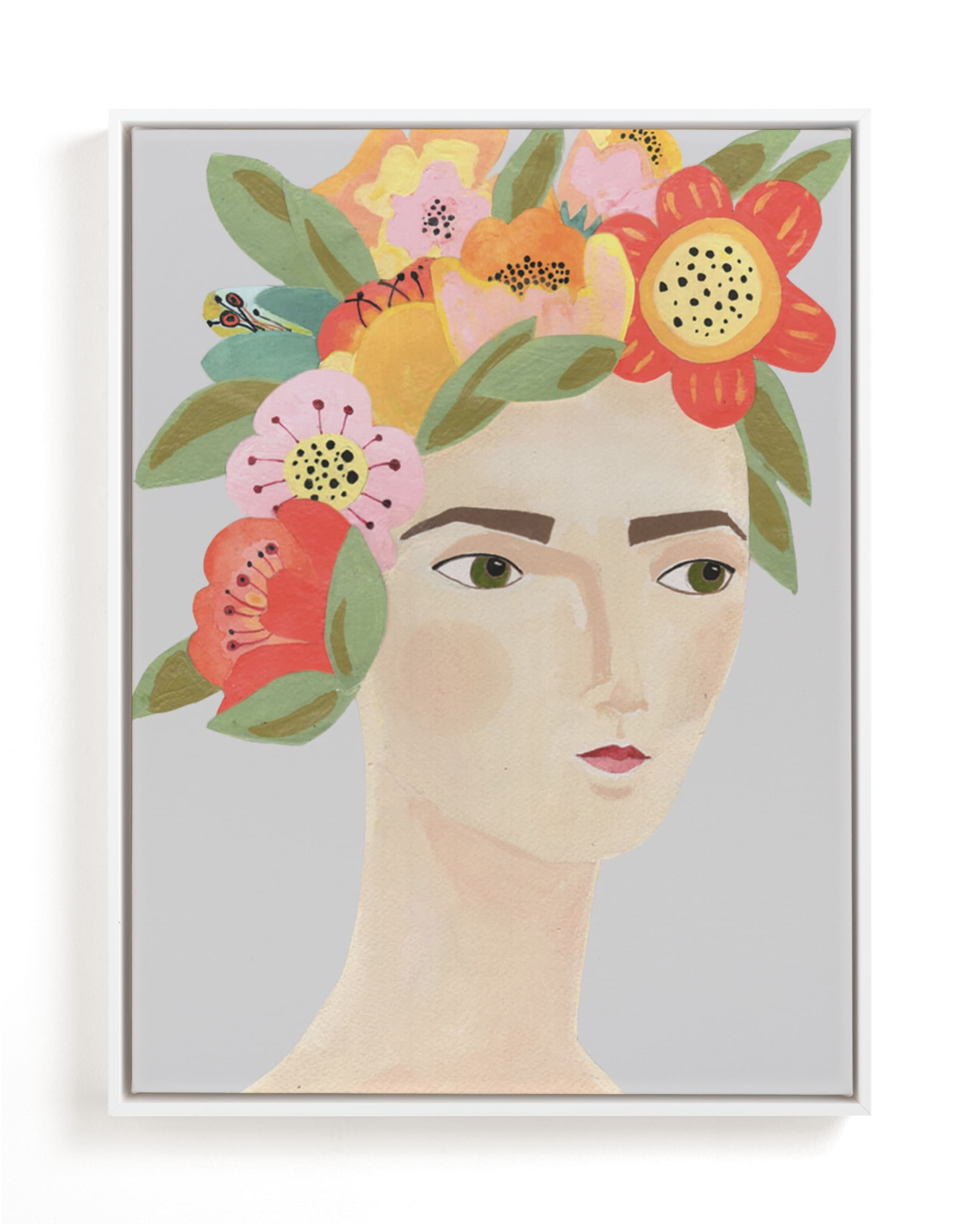 """Flower Crown"" - Limited Edition Art Print by Candace Wiant in beautiful frame options and a variety of sizes."