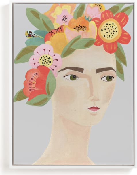This is a colorful kids wall art by Candace Wiant called Flower Crown.