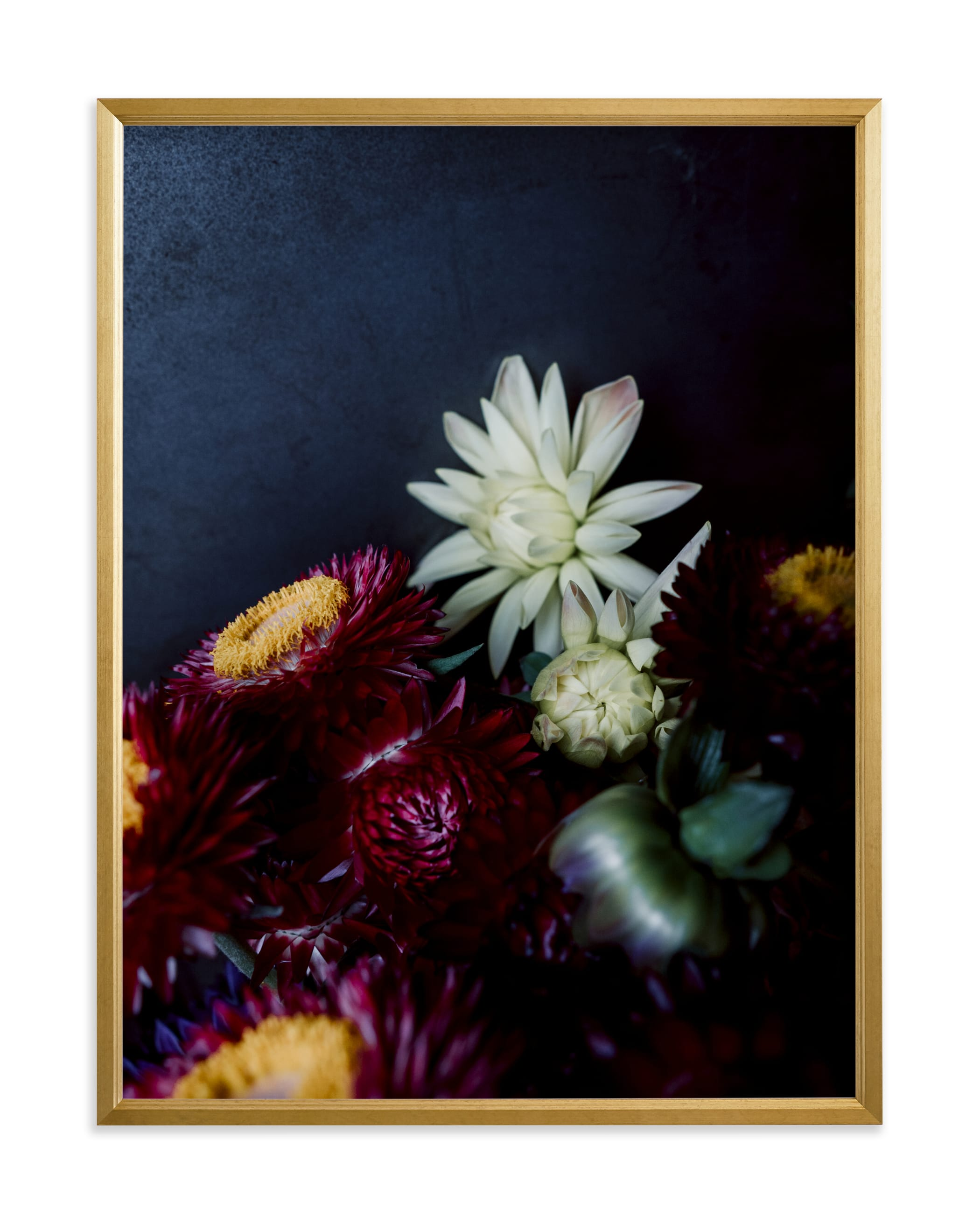 """Dark Fall Flowers"" - Limited Edition Art Print by Katie Buckman in beautiful frame options and a variety of sizes."