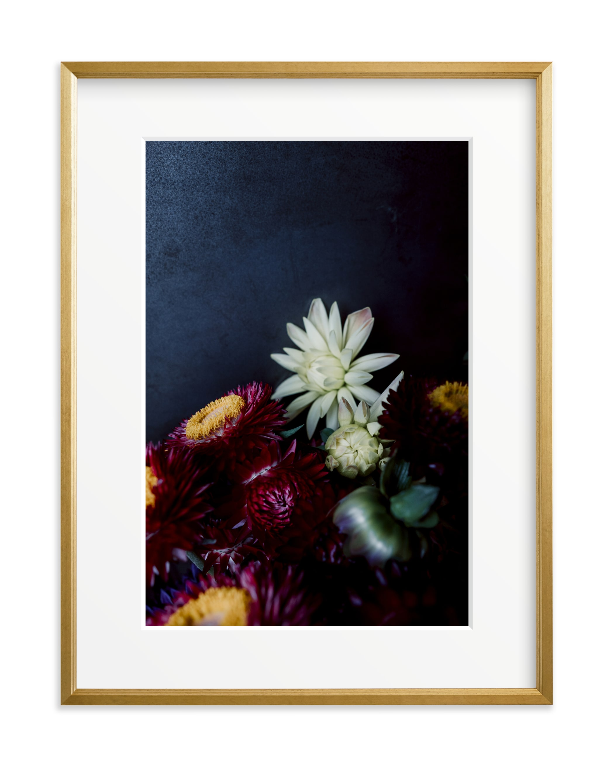 Dark Fall Flowers Art Print