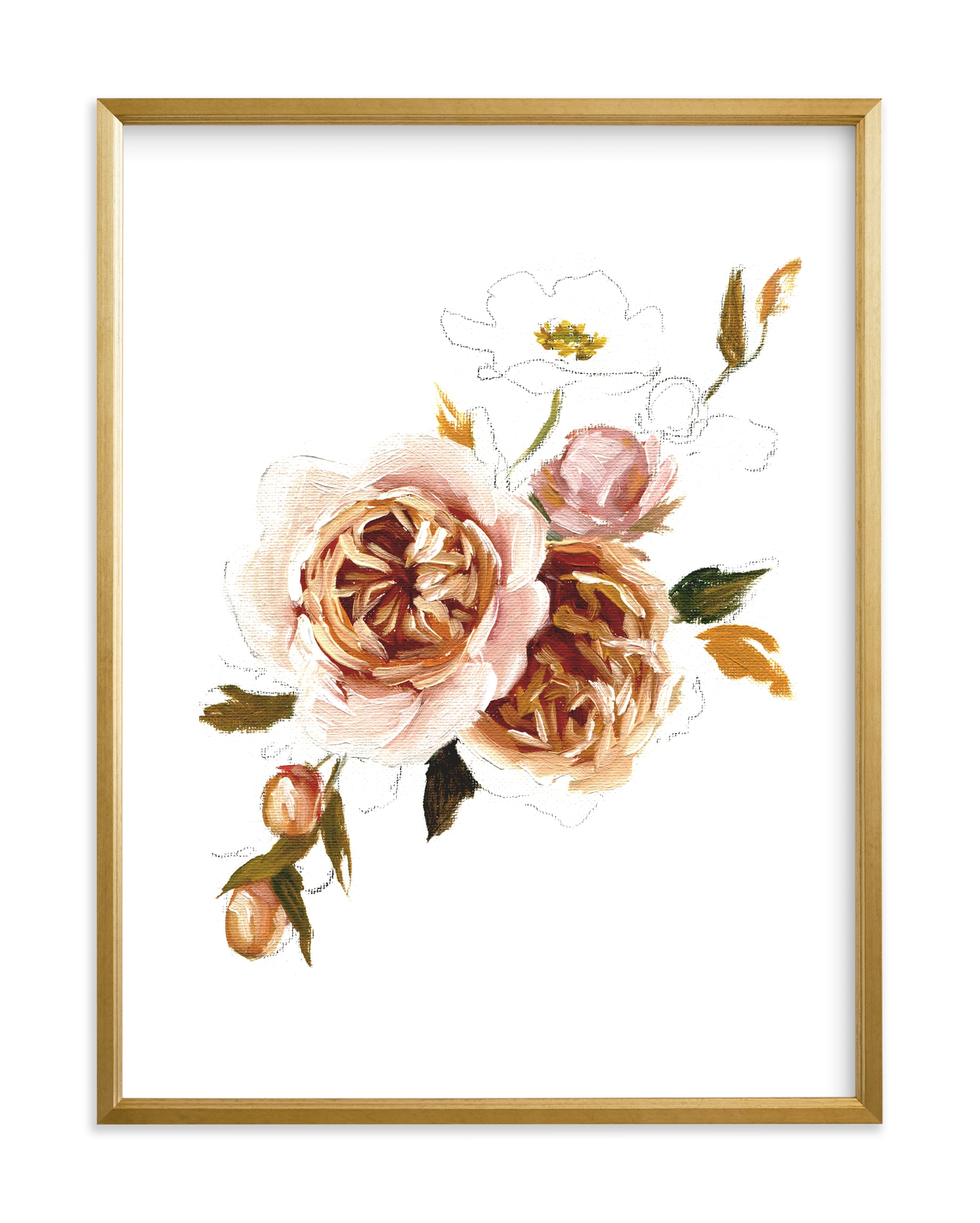 """Harvest Roses"" by Jess Blazejewski in beautiful frame options and a variety of sizes."
