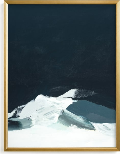 This is a blue art by Caryn Owen called Evening in Tahoe.