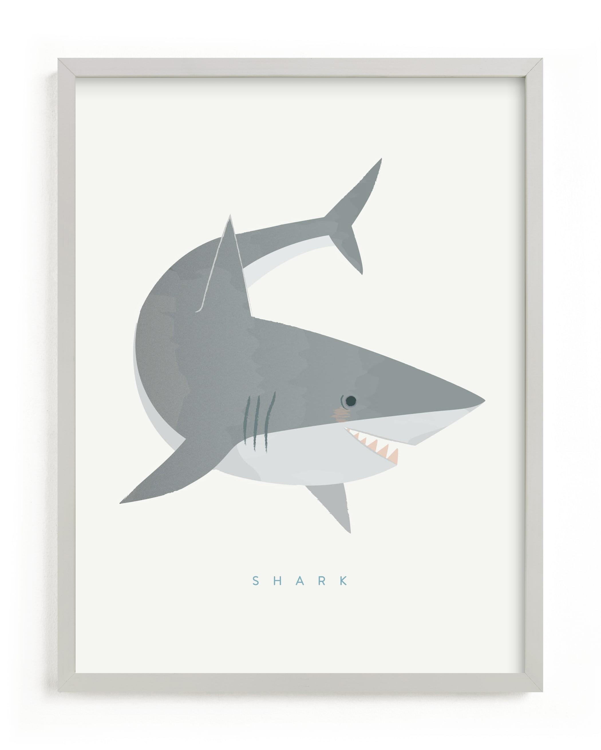 Shark Fin Children's Art Print