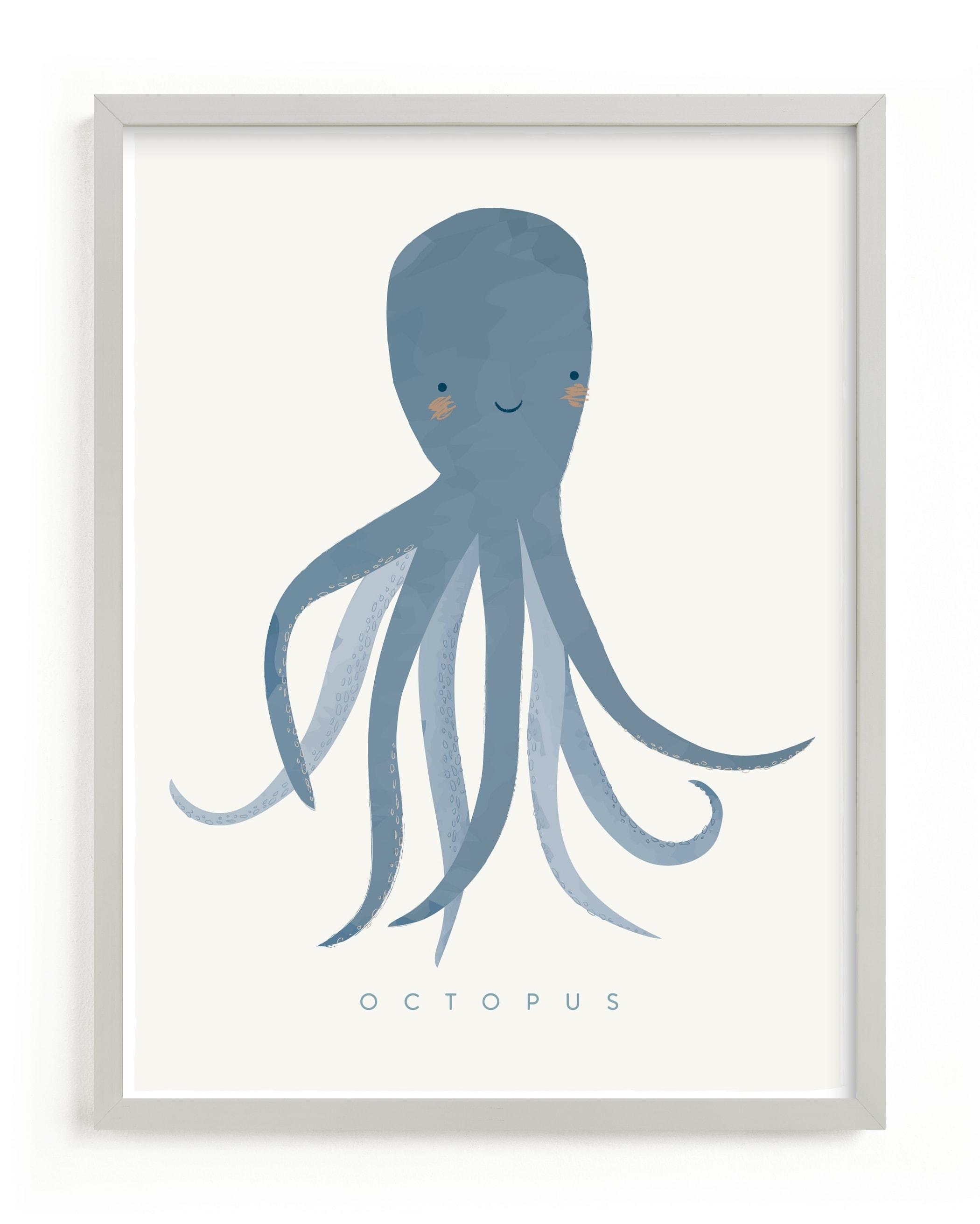 octopus tentacles Children's Art Print