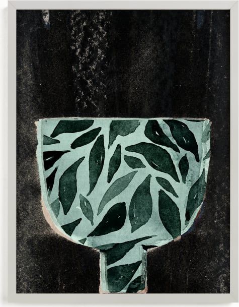 This is a black and white art by Bethania Lima called Farmhouse_bowl_1.