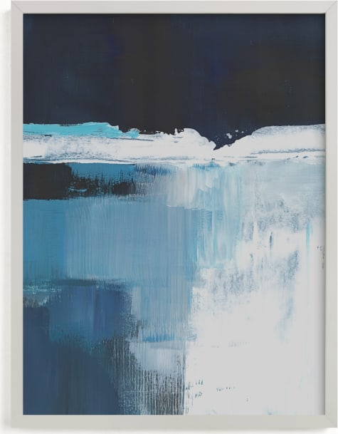 This is a blue art by AlisonJerry called Rushing Waterfall.