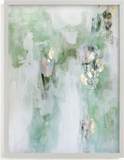 This is a green art by Christine Olmstead called Leaf It Alone.