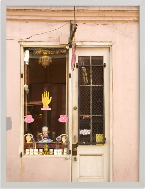 This is a pink art by Kathy Van Torne called New Orleans French Quarter Pink Facade.