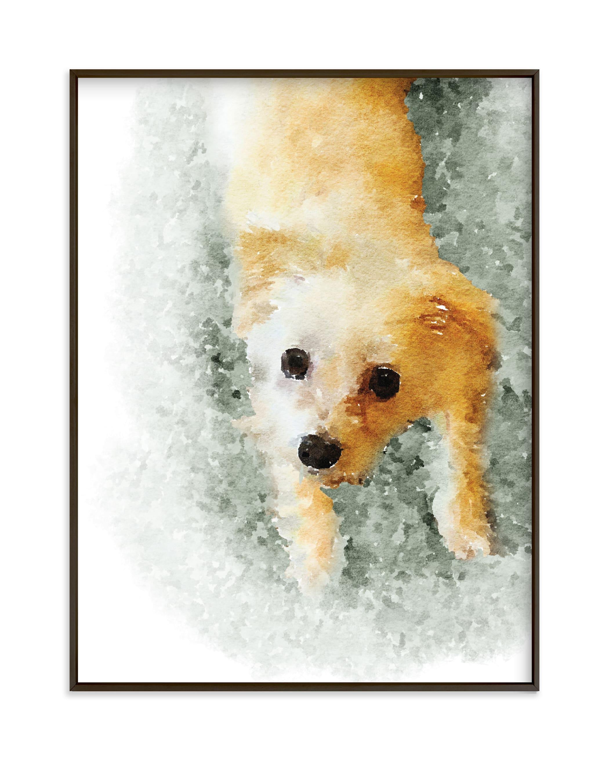 Custom Pet Portrait Your Drawing As Art Print