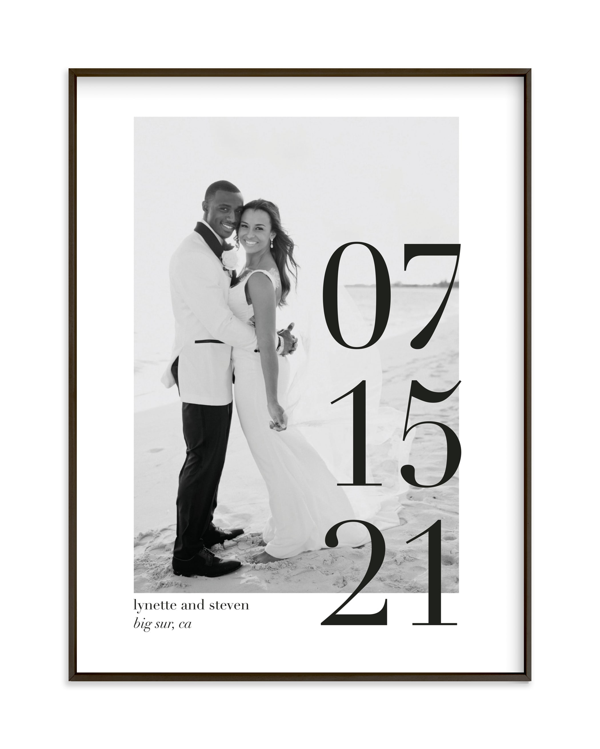 Big Date Custom Photo Art Print