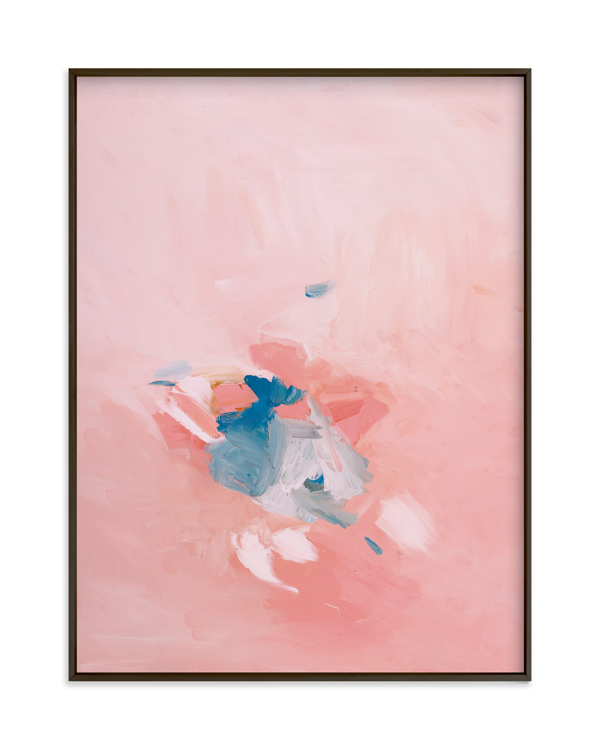 """""""Soft Coral"""" - Grownup Open Edition Non-custom Art Print by Caryn Owen in beautiful frame options and a variety of sizes."""