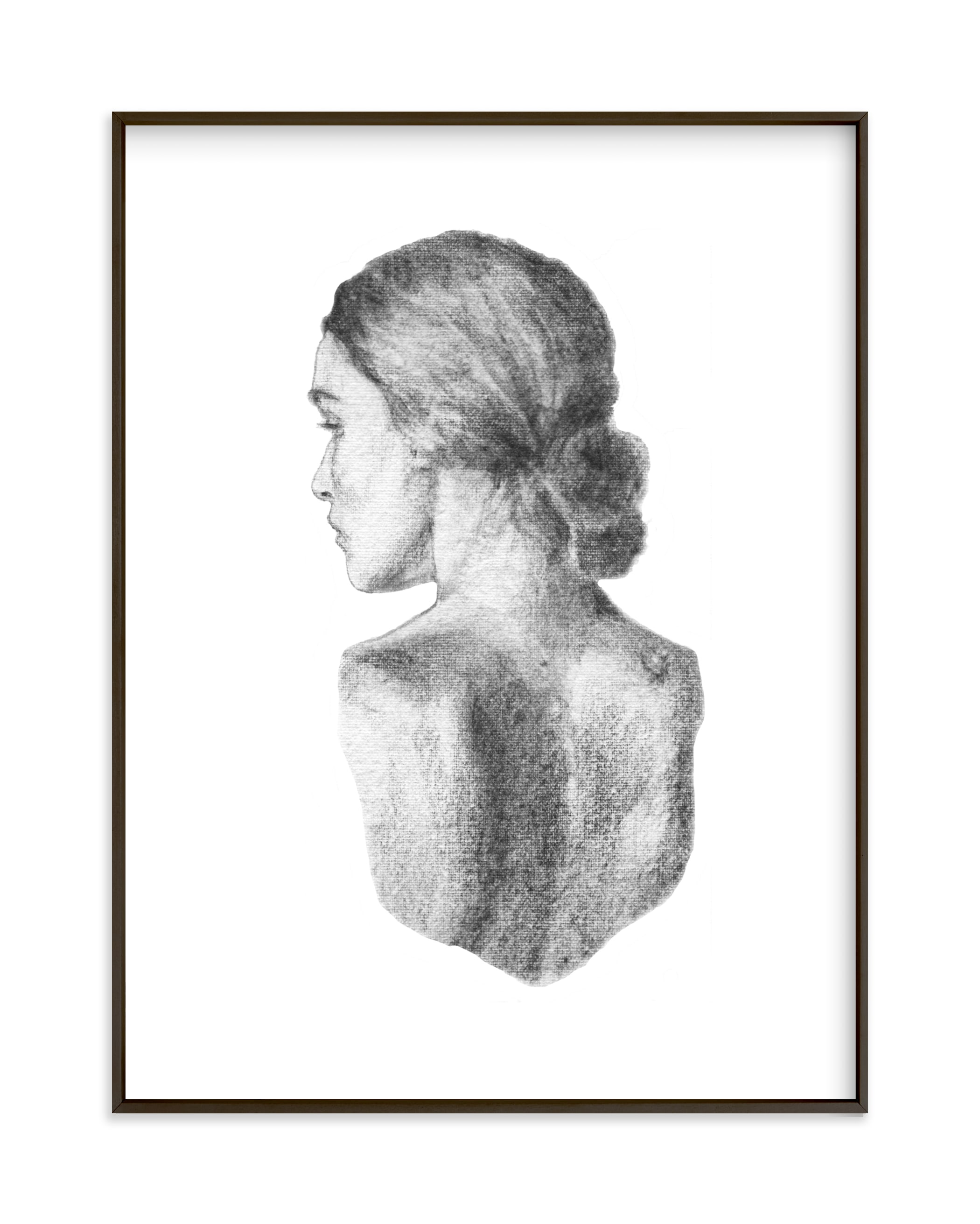 """Figure Drawing no.19"" by Jess Blazejewski in beautiful frame options and a variety of sizes."