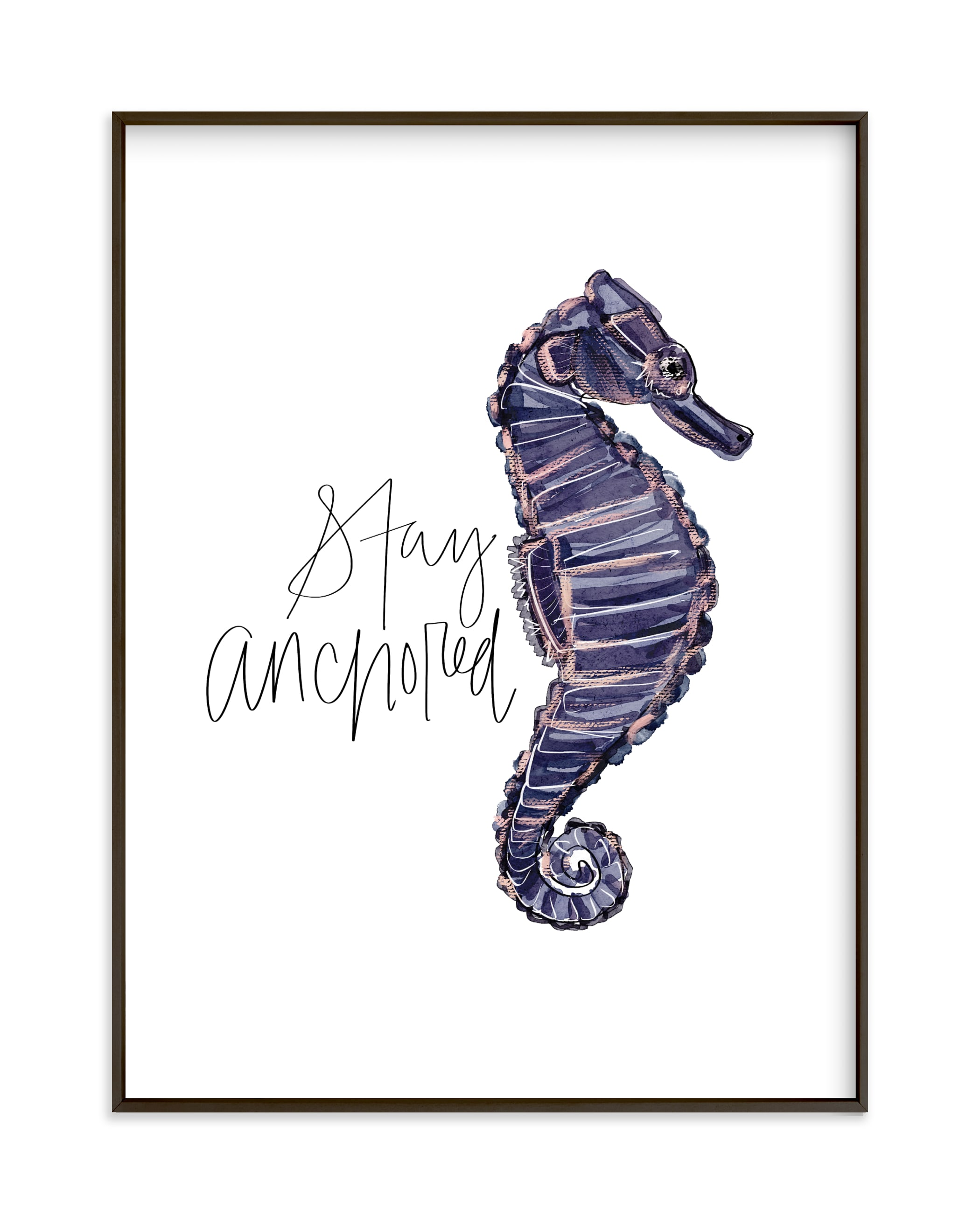 """""""Stay Anchored"""" by Britt Mills in beautiful frame options and a variety of sizes."""