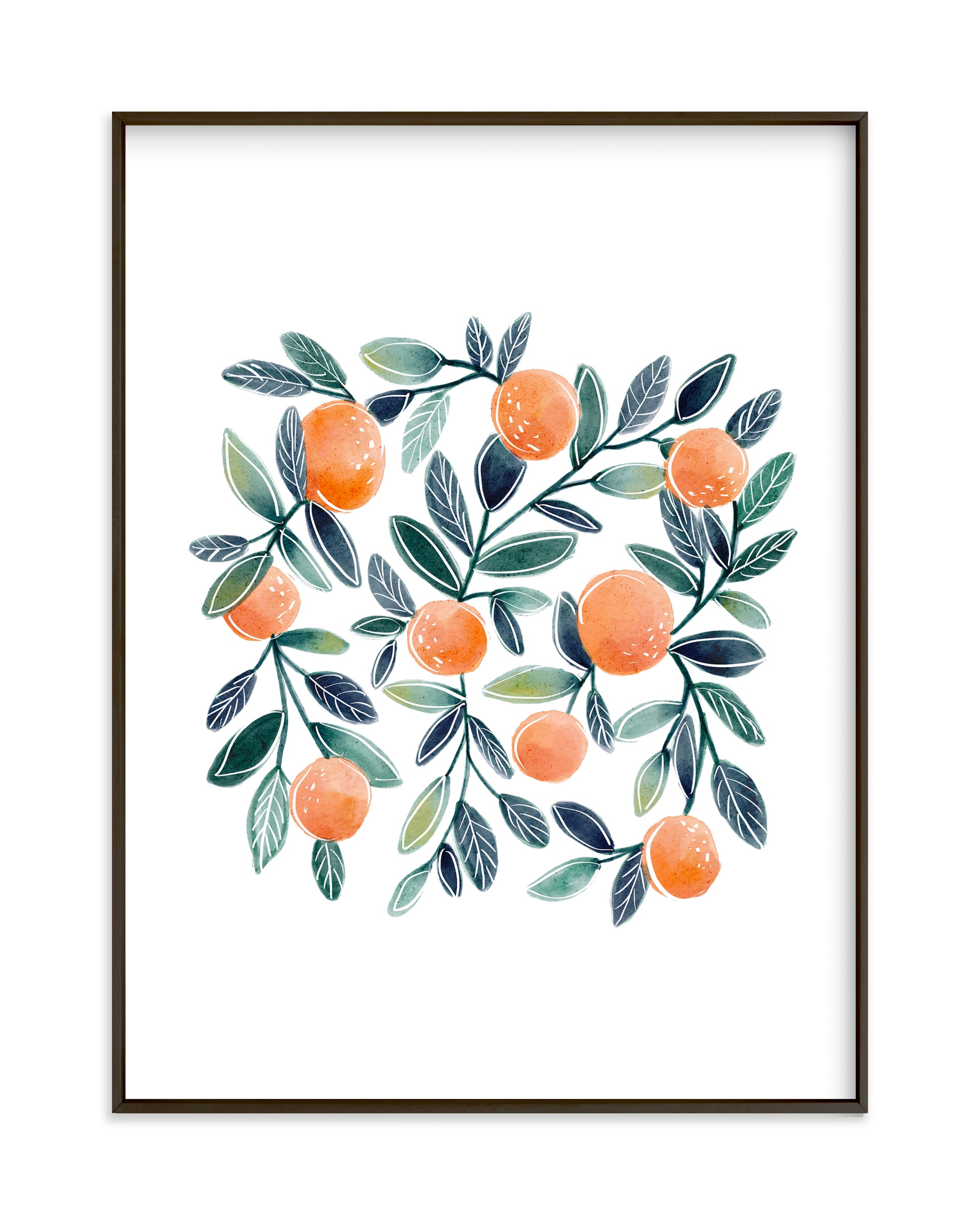 """Sweet Clementines"" by Britt Mills in beautiful frame options and a variety of sizes."