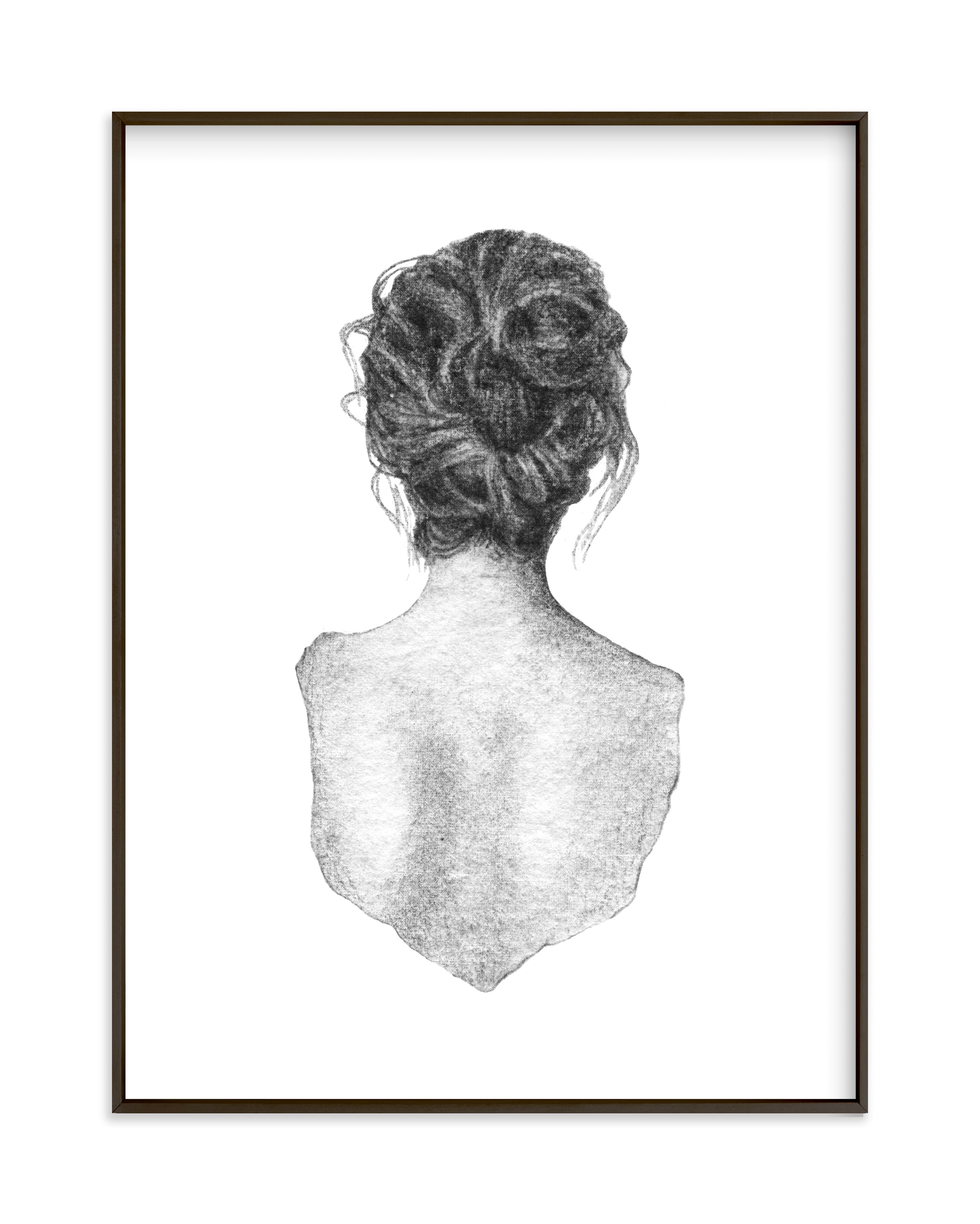 """Figure Drawing no.18"" by Jess Blazejewski in beautiful frame options and a variety of sizes."