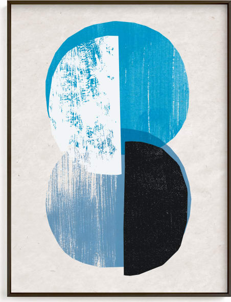 This is a blue art by Sumak Studio called moody moons.