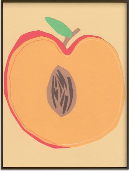 This is a beige art by Elliot Stokes called Peach Pit.