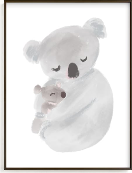 This is a grey nursery wall art by chocomocacino called suzette.