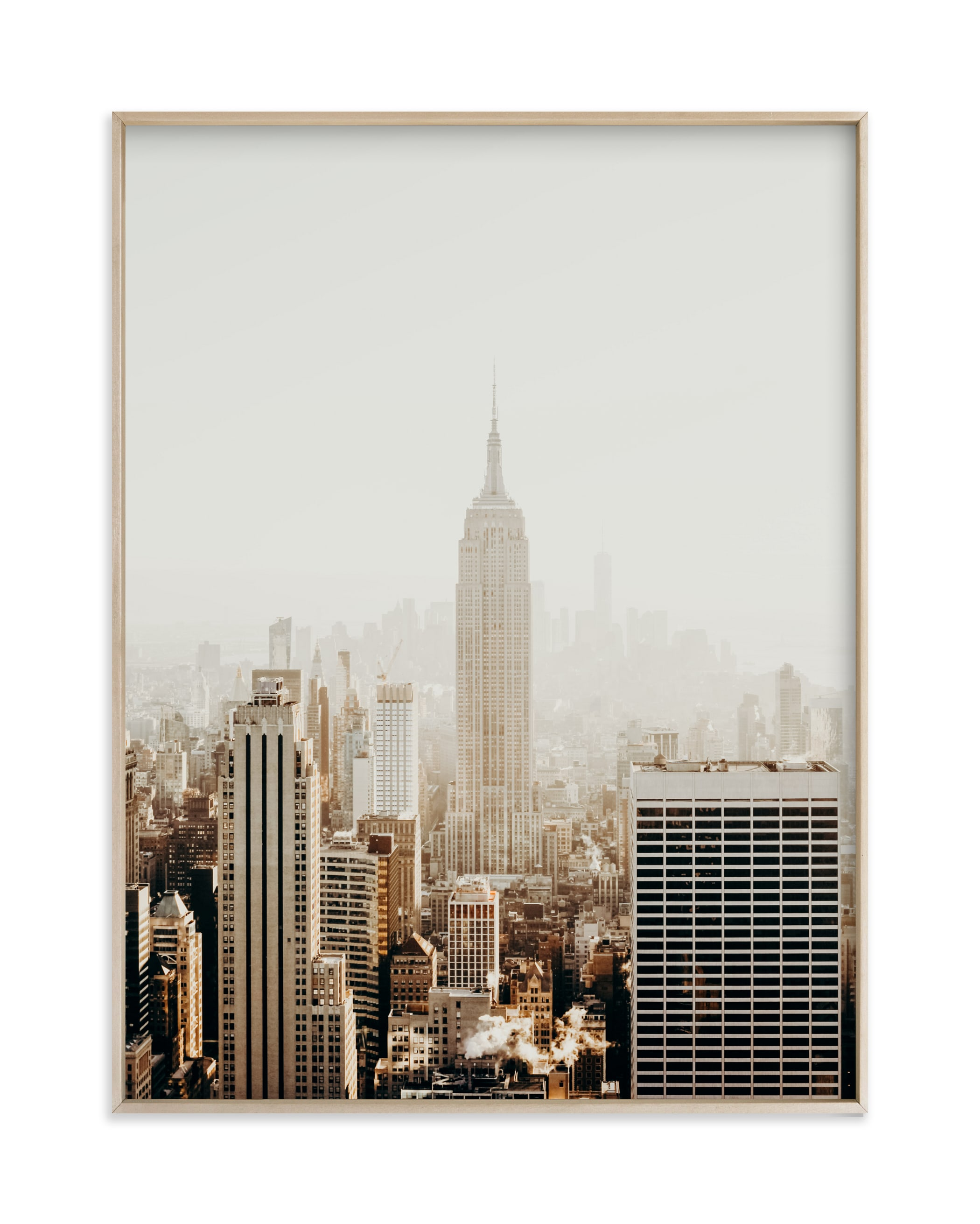 """""""New York City in Gold"""" - Limited Edition Art Print by Becca Frederick in beautiful frame options and a variety of sizes."""