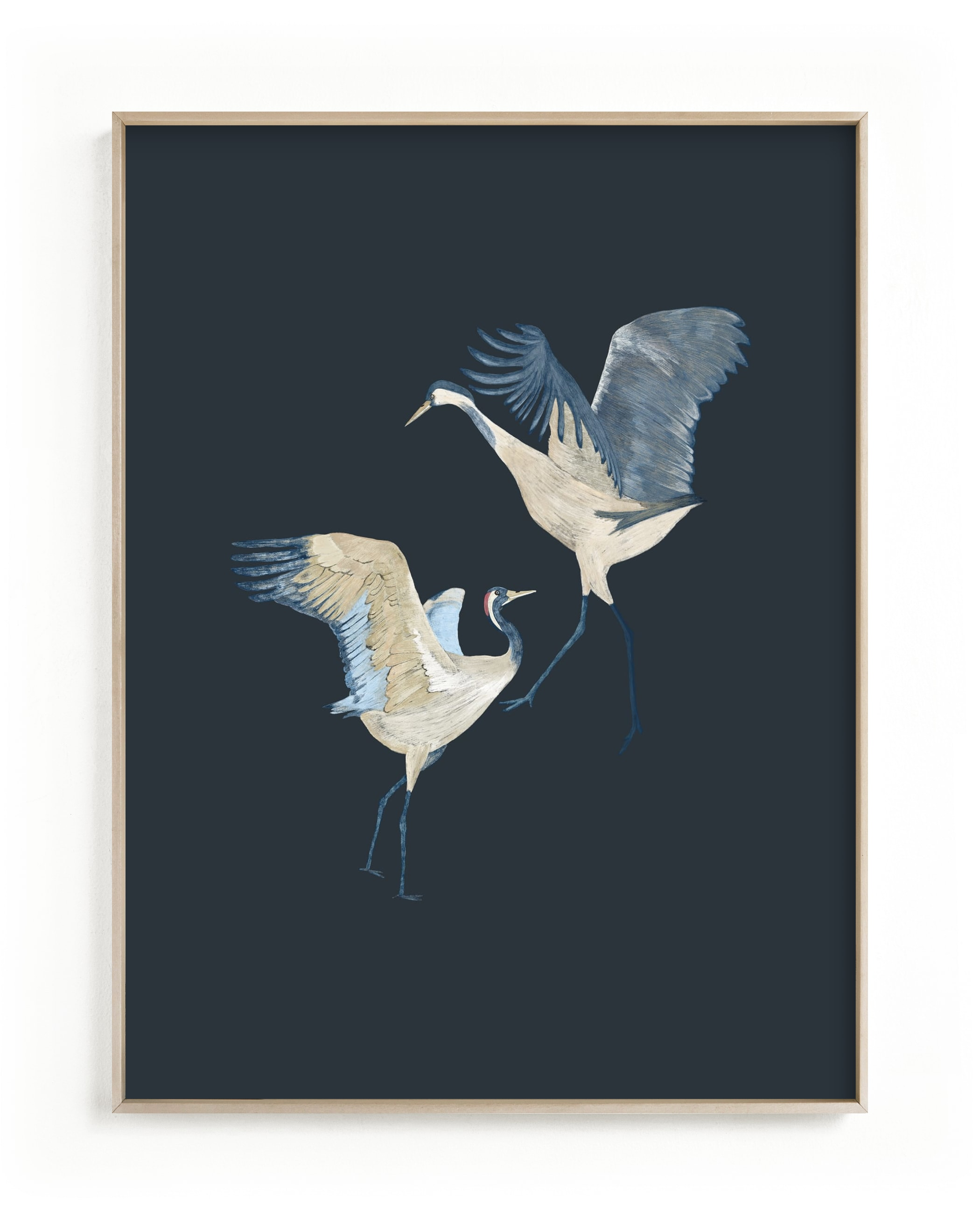Crane dance Wall Art Print