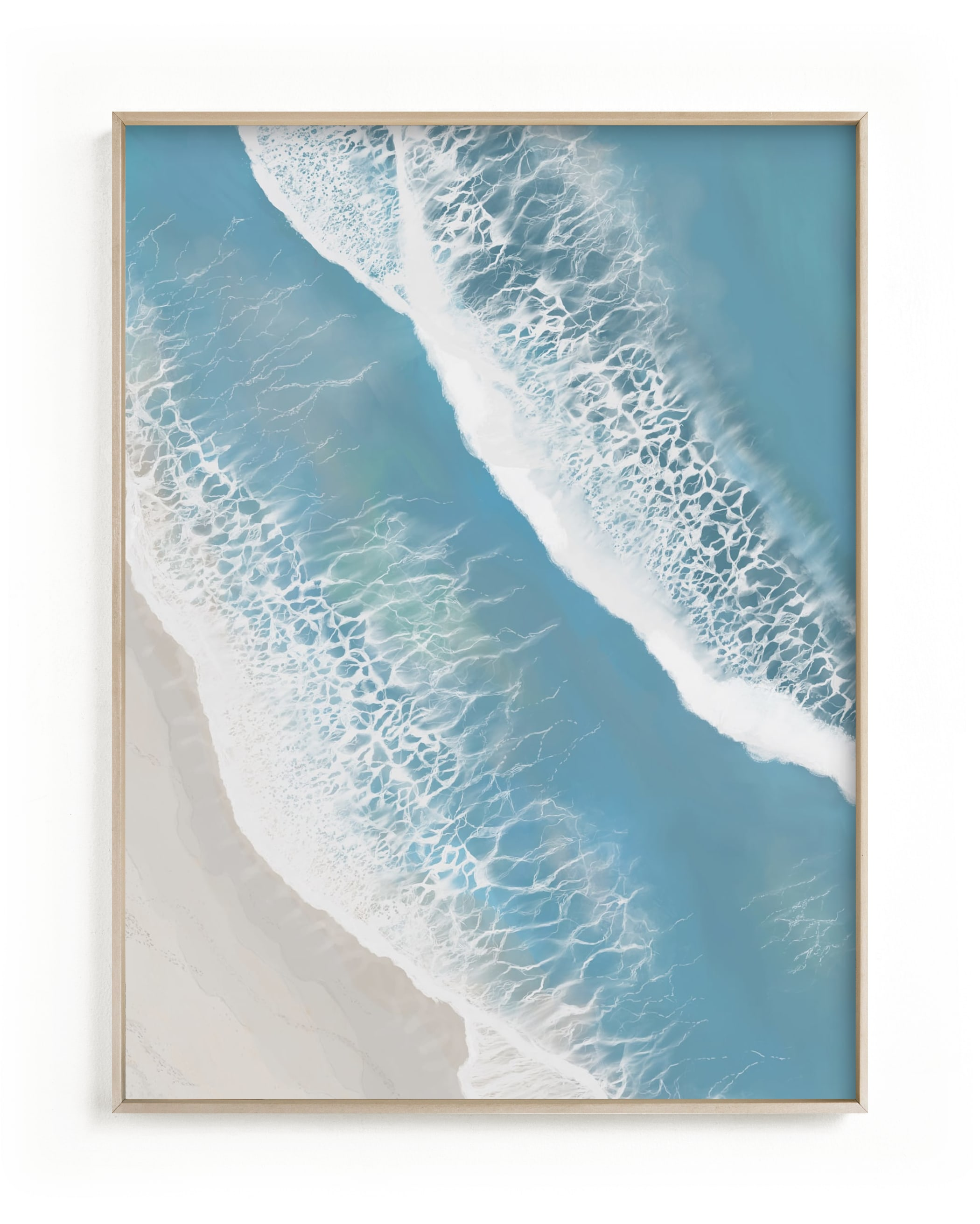 """""""Foam From Above"""" - Limited Edition Art Print by Melanie Sutherland in beautiful frame options and a variety of sizes."""