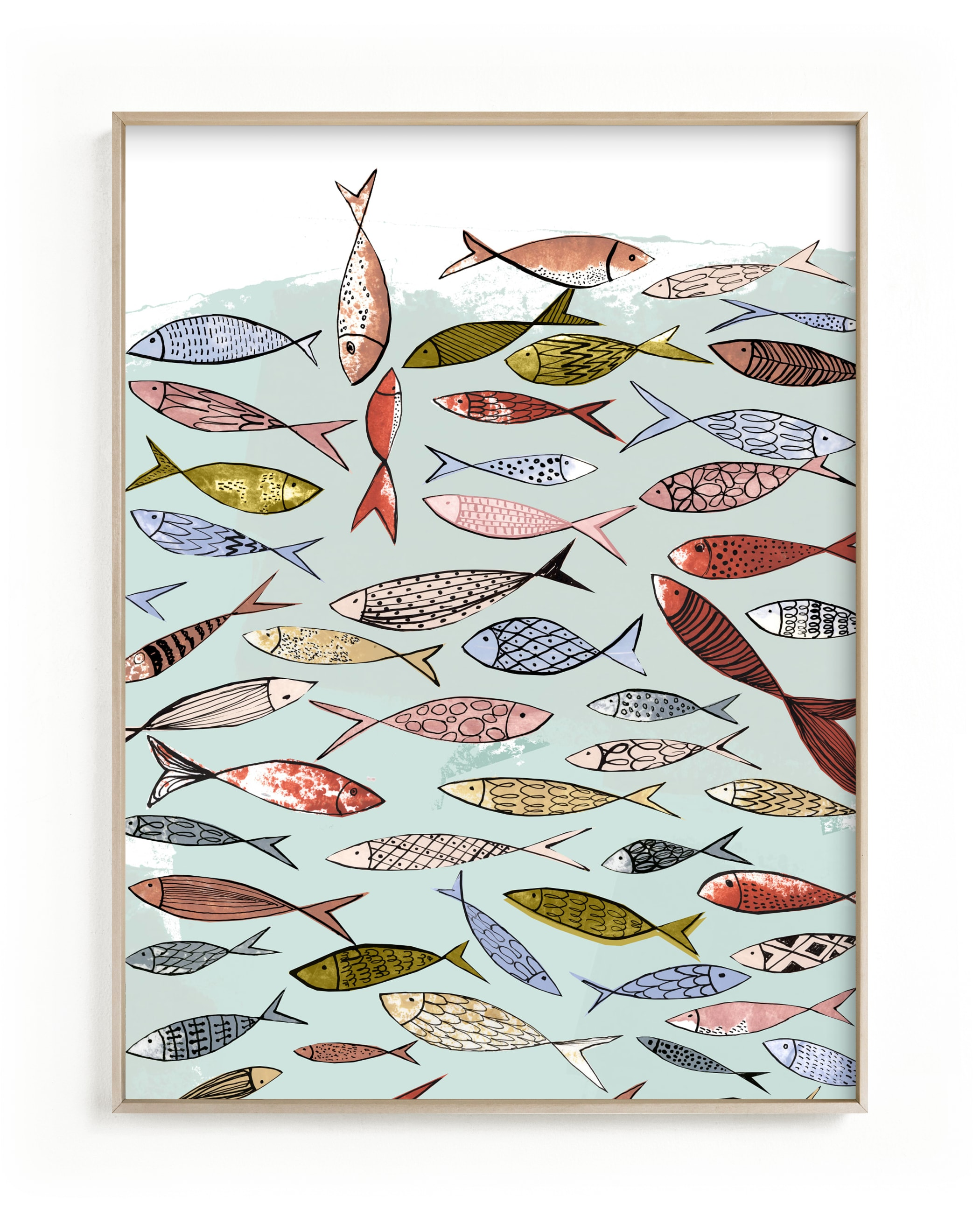 Snapshot of a party in the sea Children's Art Print