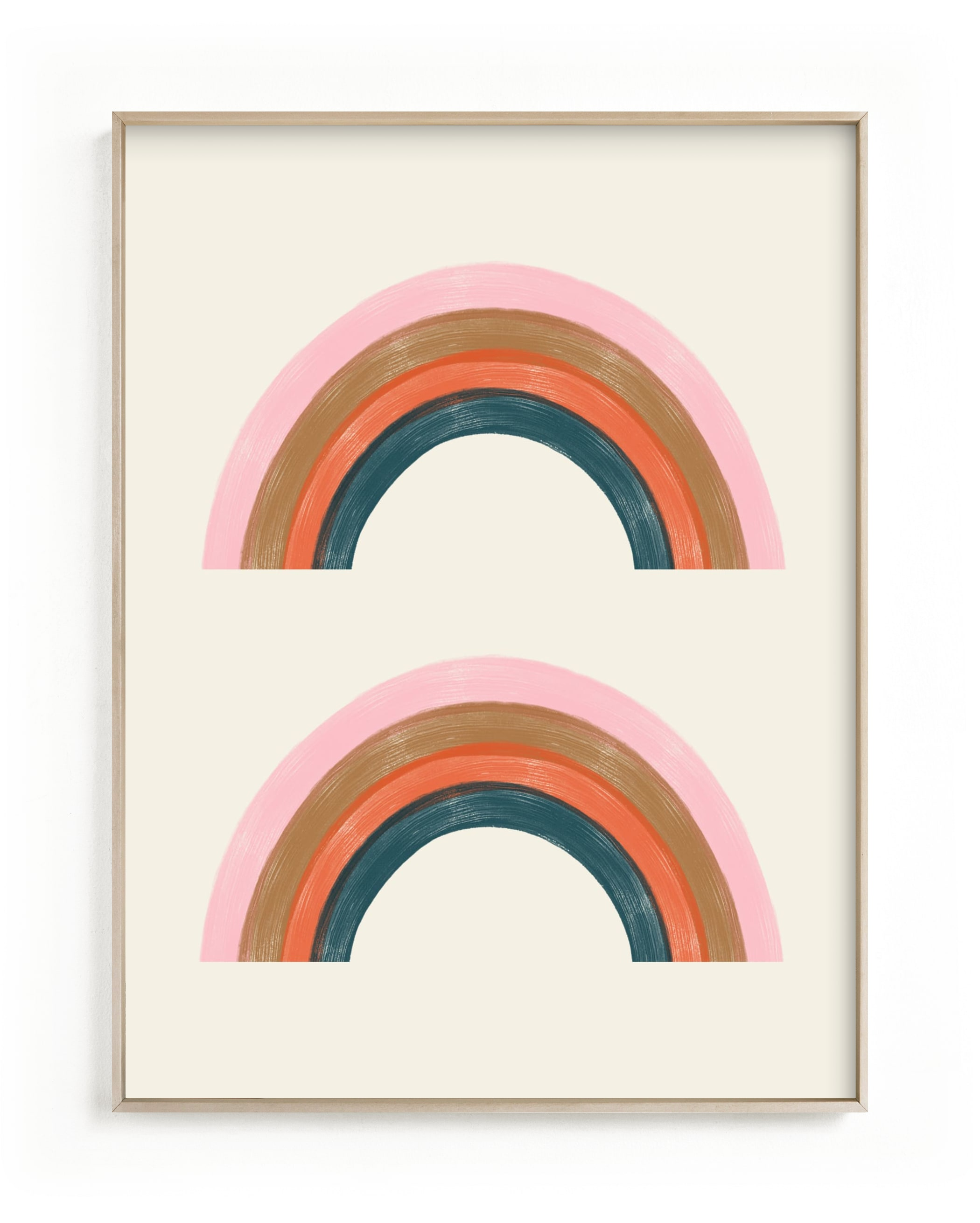 """""""Double Vintage Rainbow"""" - Limited Edition Art Print by EMANUELA CARRATONI in beautiful frame options and a variety of sizes."""