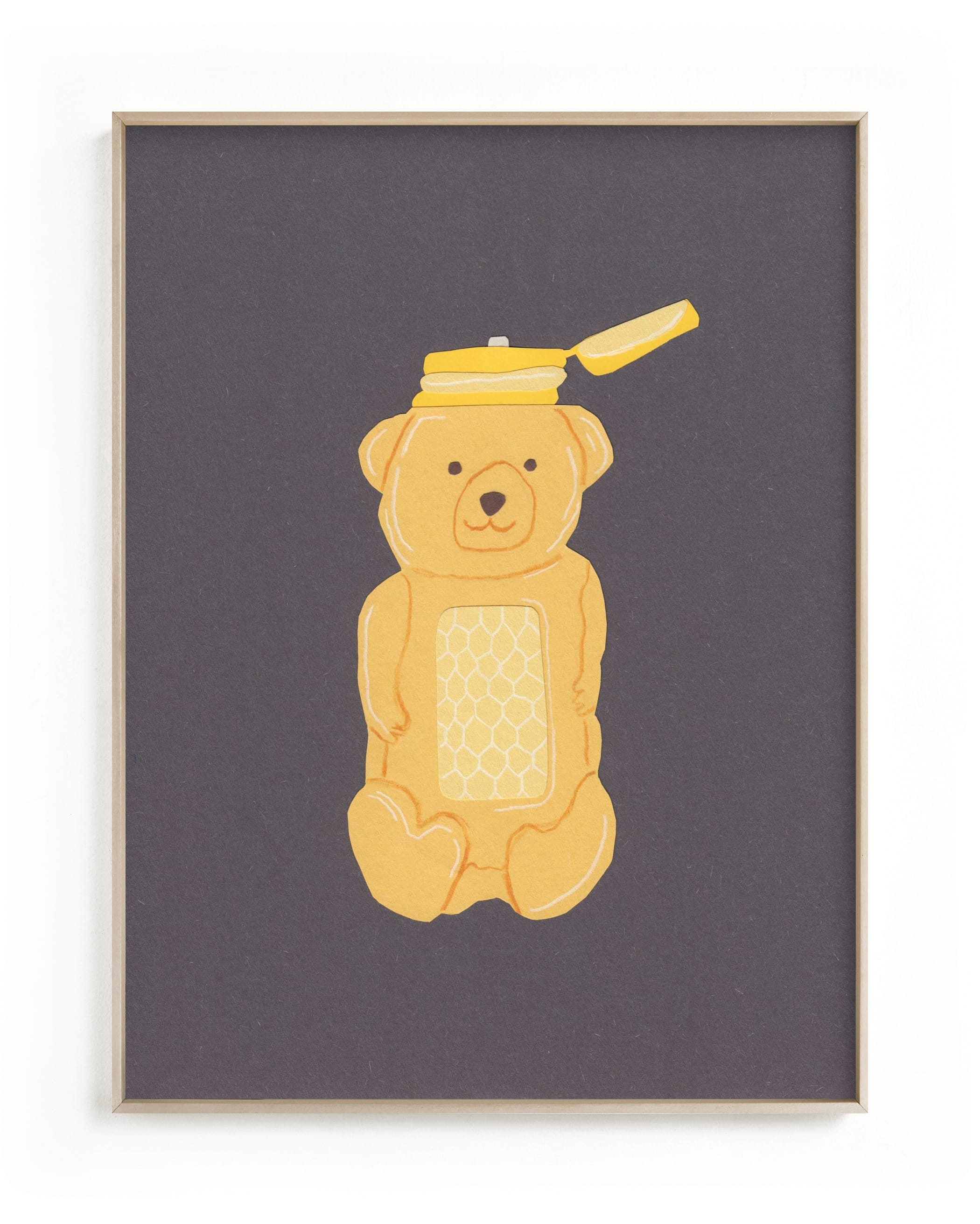 """""""Honey Bear"""" - Limited Edition Art Print by Elliot Stokes in beautiful frame options and a variety of sizes."""
