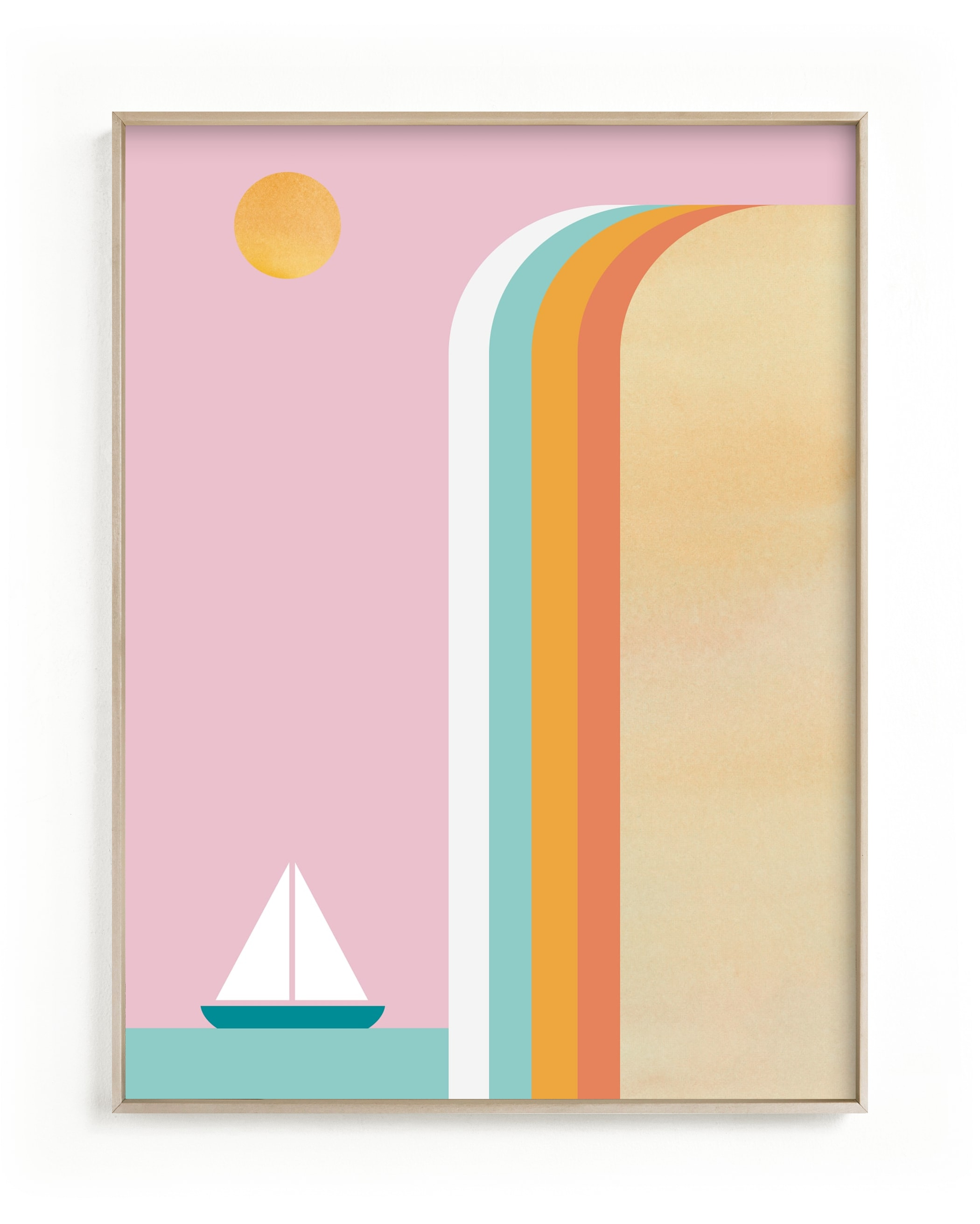 """Smooth Sailin"" - Limited Edition Art Print by sue prue in beautiful frame options and a variety of sizes."