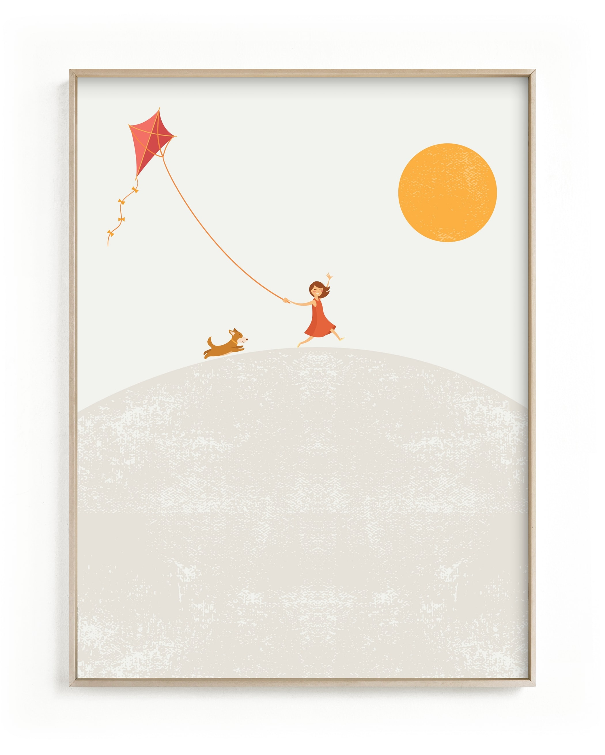 Over the Hill Children's Art Print