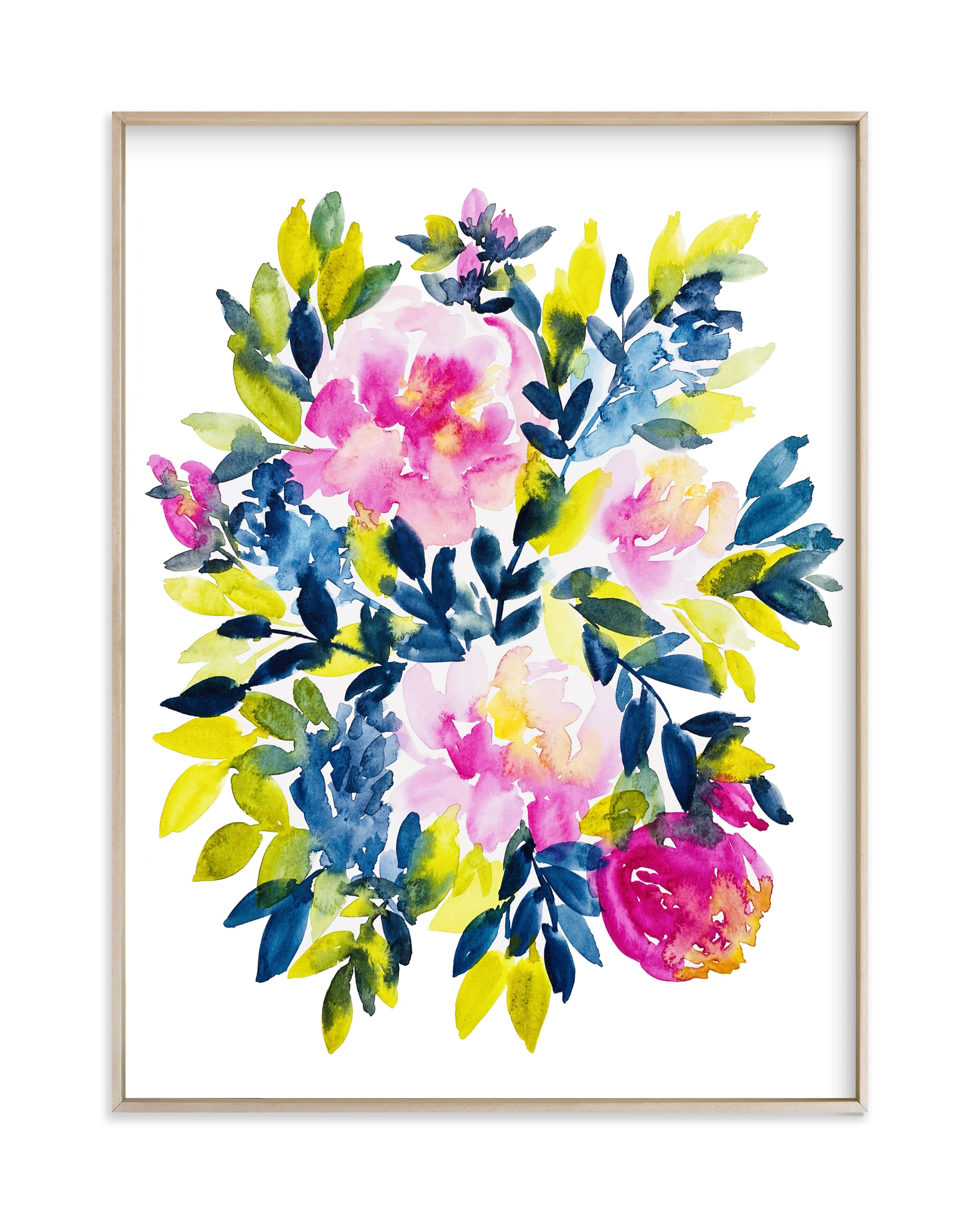 """""""Playful Peonies"""" by Britt Mills in beautiful frame options and a variety of sizes."""