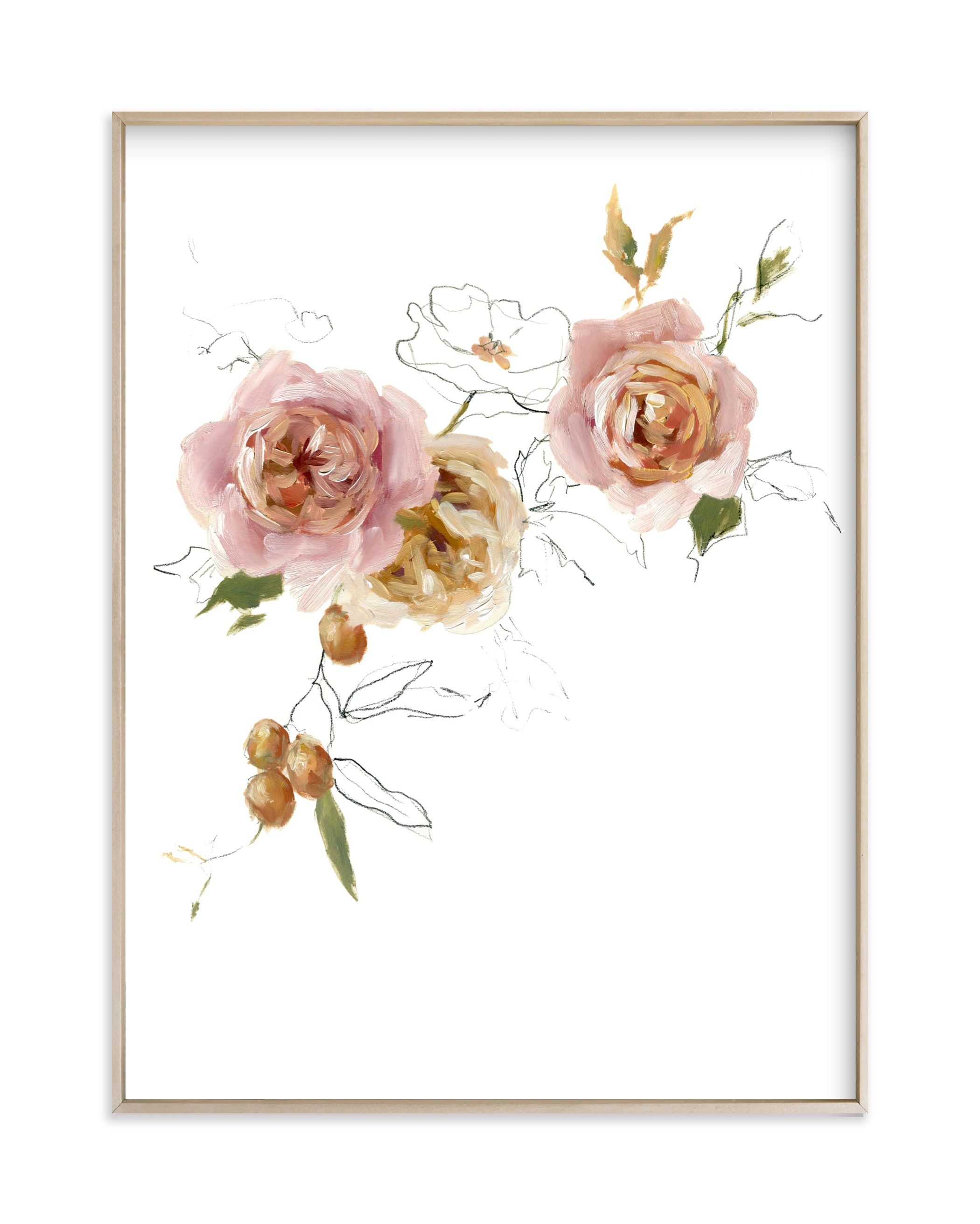 """""""Apricot & Gold"""" by Jess Blazejewski in beautiful frame options and a variety of sizes."""