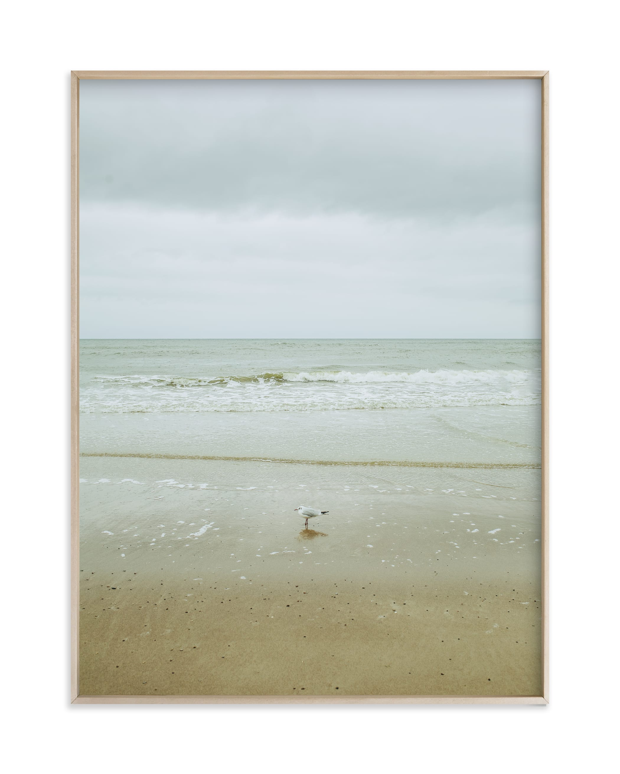 """""""Seaside triptych"""" by Lying on the grass in beautiful frame options and a variety of sizes."""