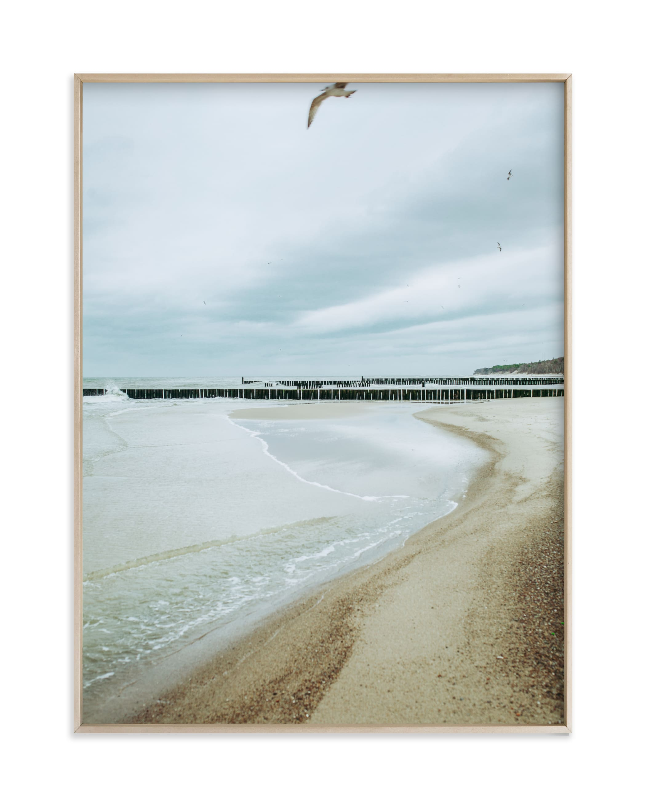 """""""Seaside triptych II"""" by Lying on the grass in beautiful frame options and a variety of sizes."""