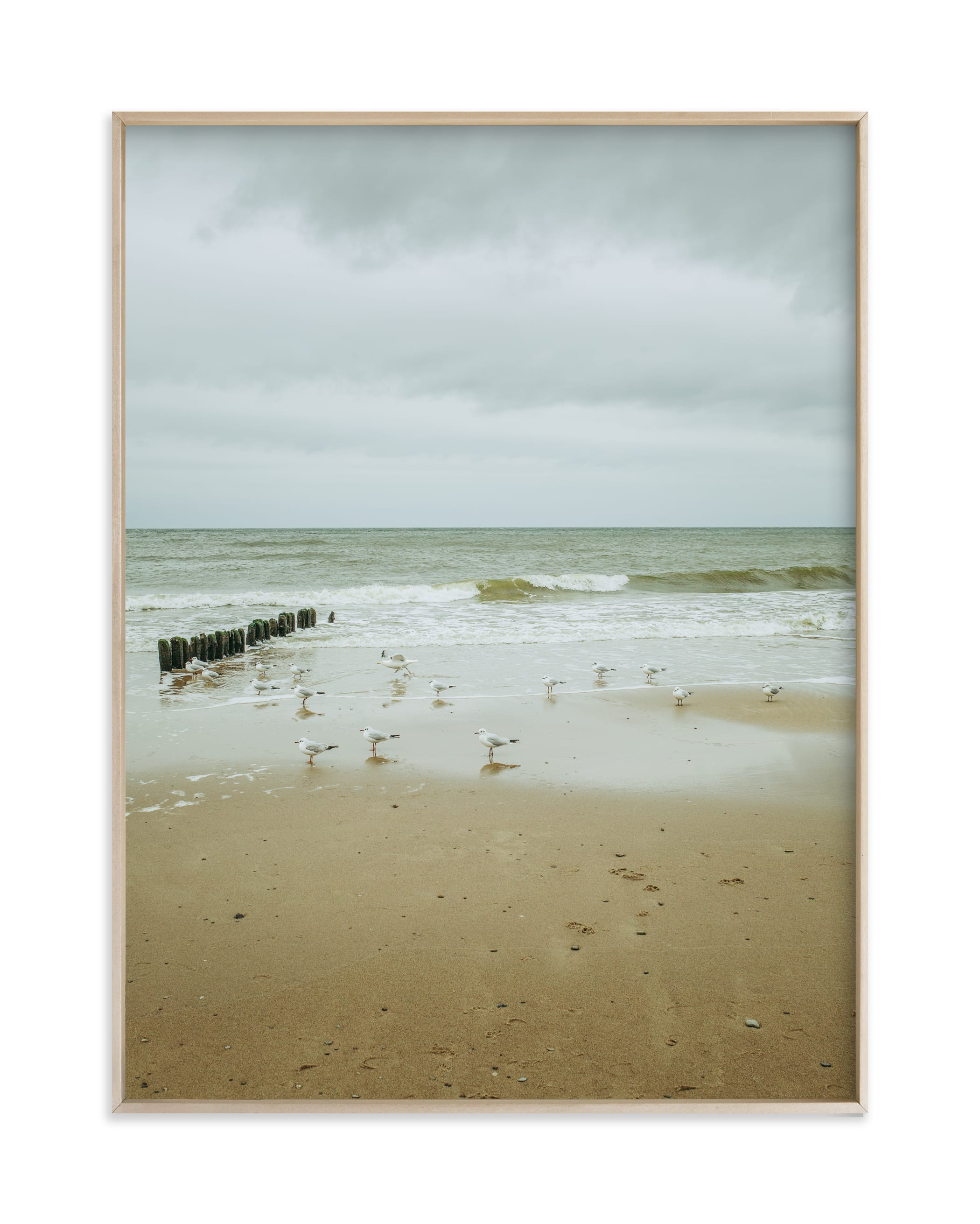 """""""Seaside triptych III"""" by Lying on the grass in beautiful frame options and a variety of sizes."""