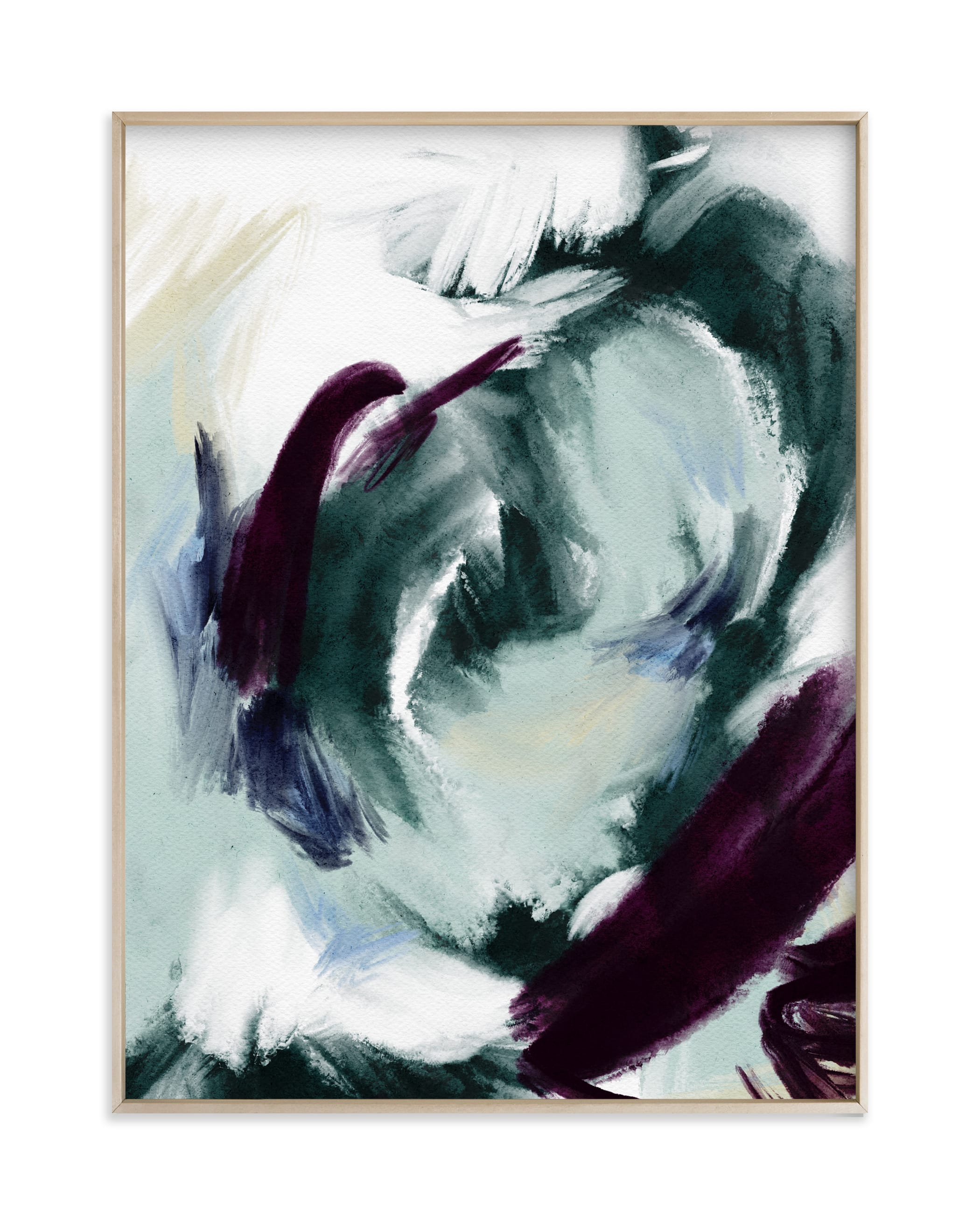 """Emerald Wave"" by Britt Mills in beautiful frame options and a variety of sizes."