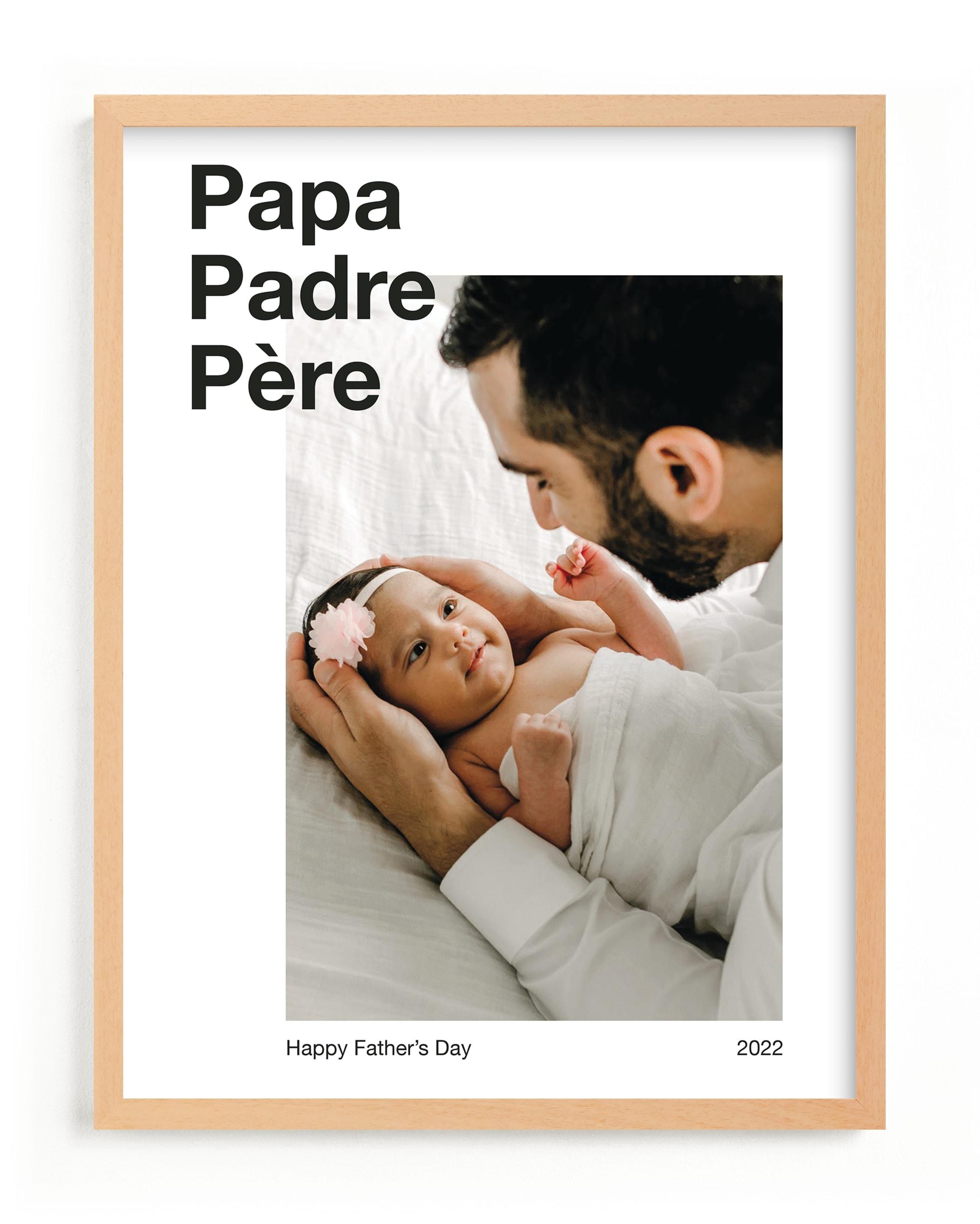 Trilingual Dad Custom Photo Art Print