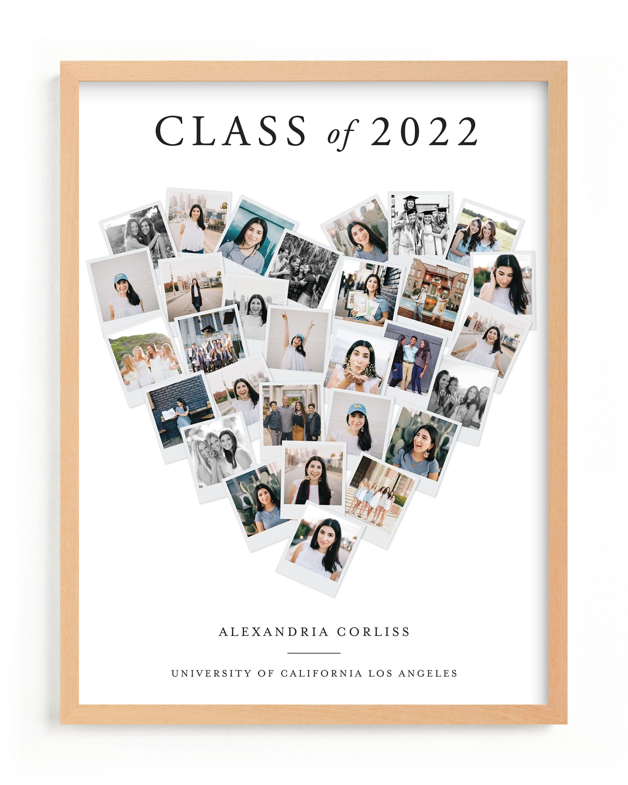 """""""Grad Heart Snapshot Mix"""", designed by Minted"""
