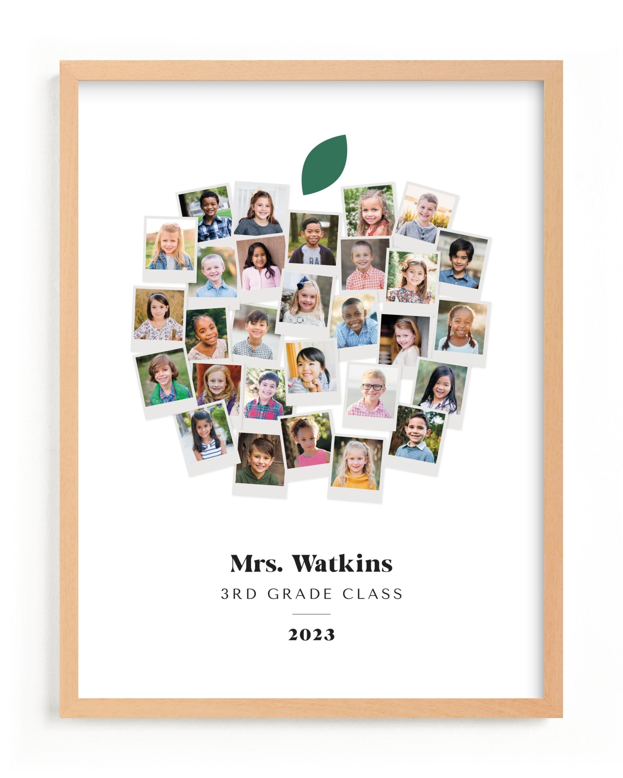 Apple for the Teacher Custom Photo Art Print